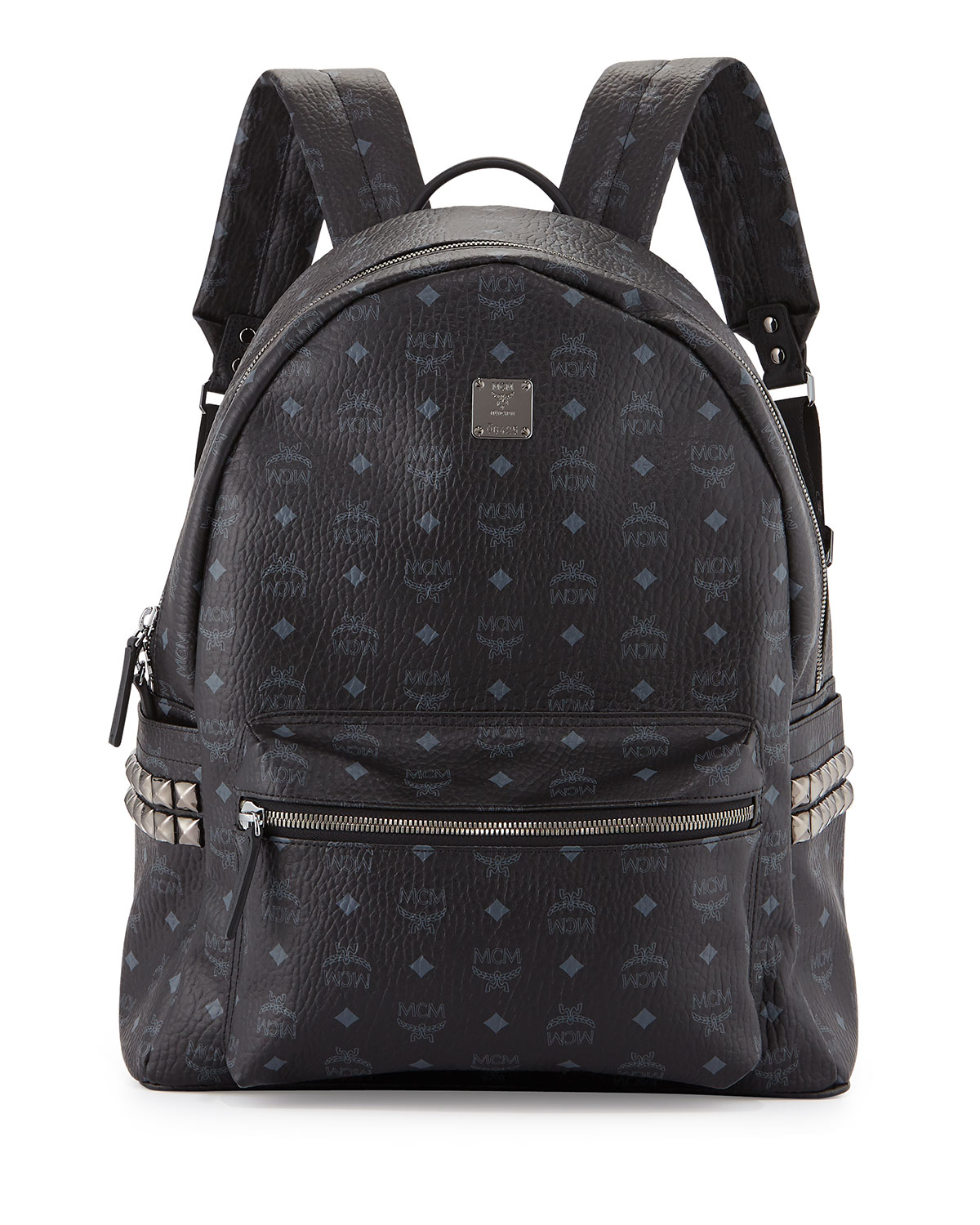 mcm stark side stud large backpack in black