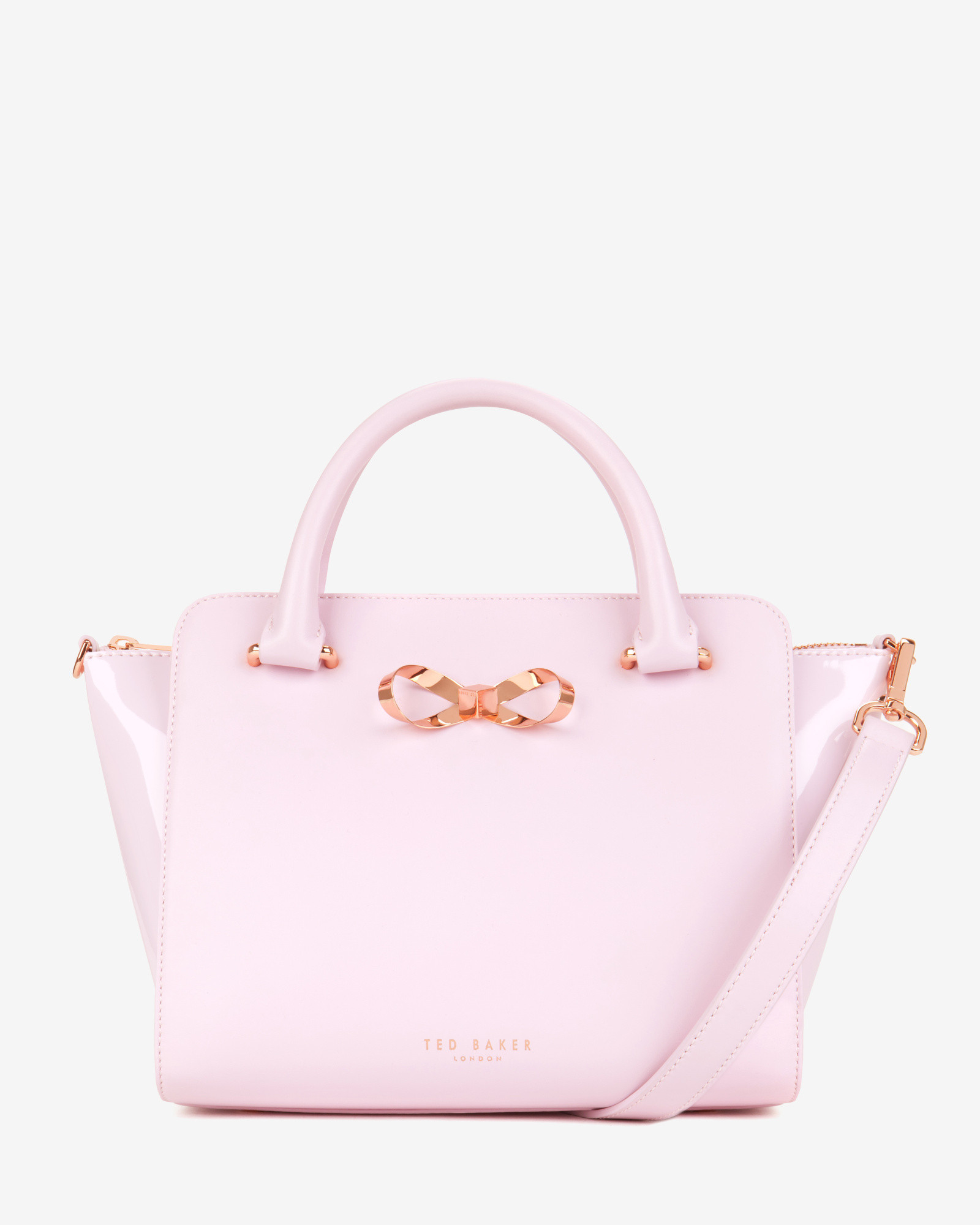 f56b3146e9e260 Ted Baker - Pink Loop Bow Leather Tote Bag - Lyst