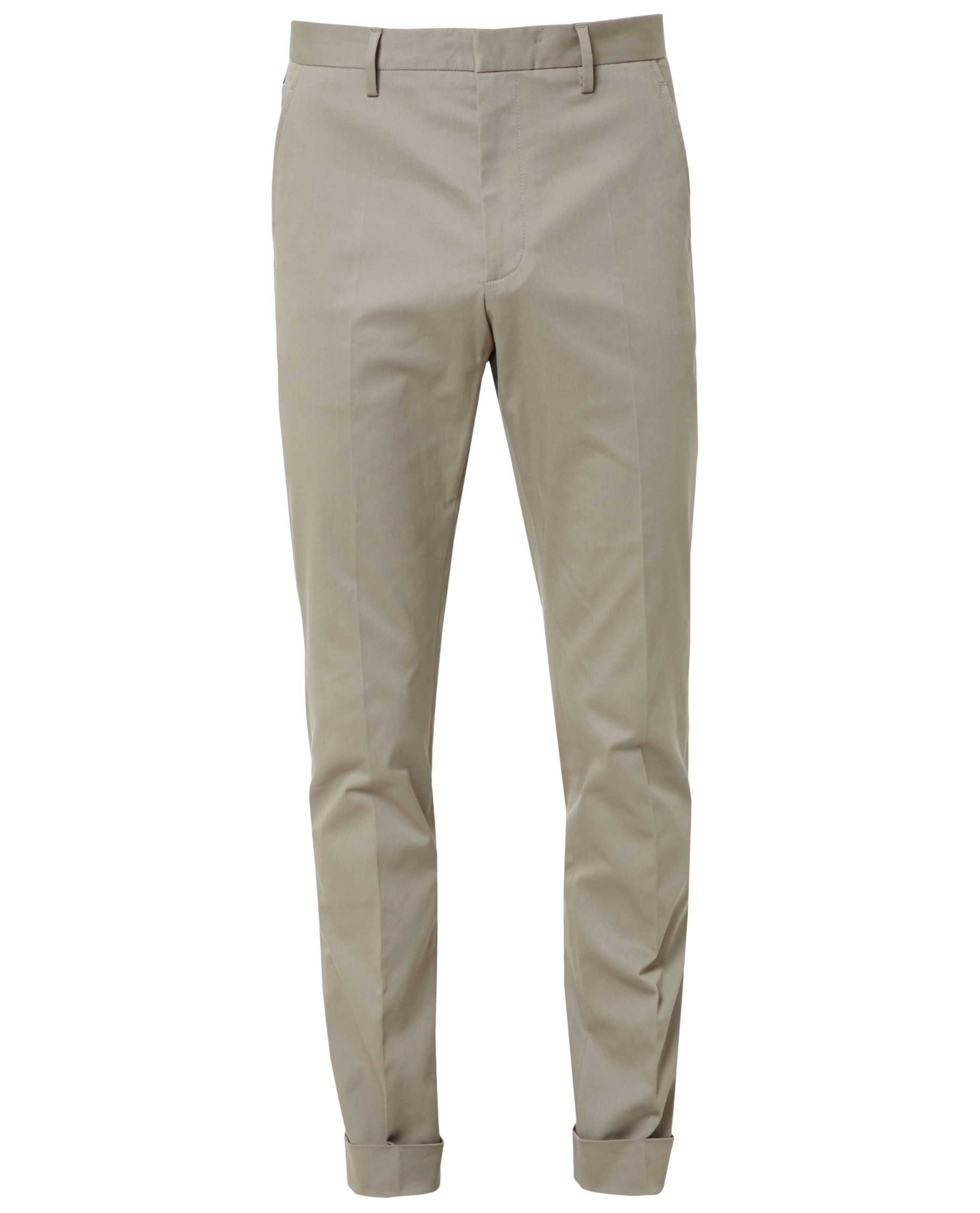 137ec6459494 Gucci Turn-up Cuff Trousers in Natural for Men - Lyst