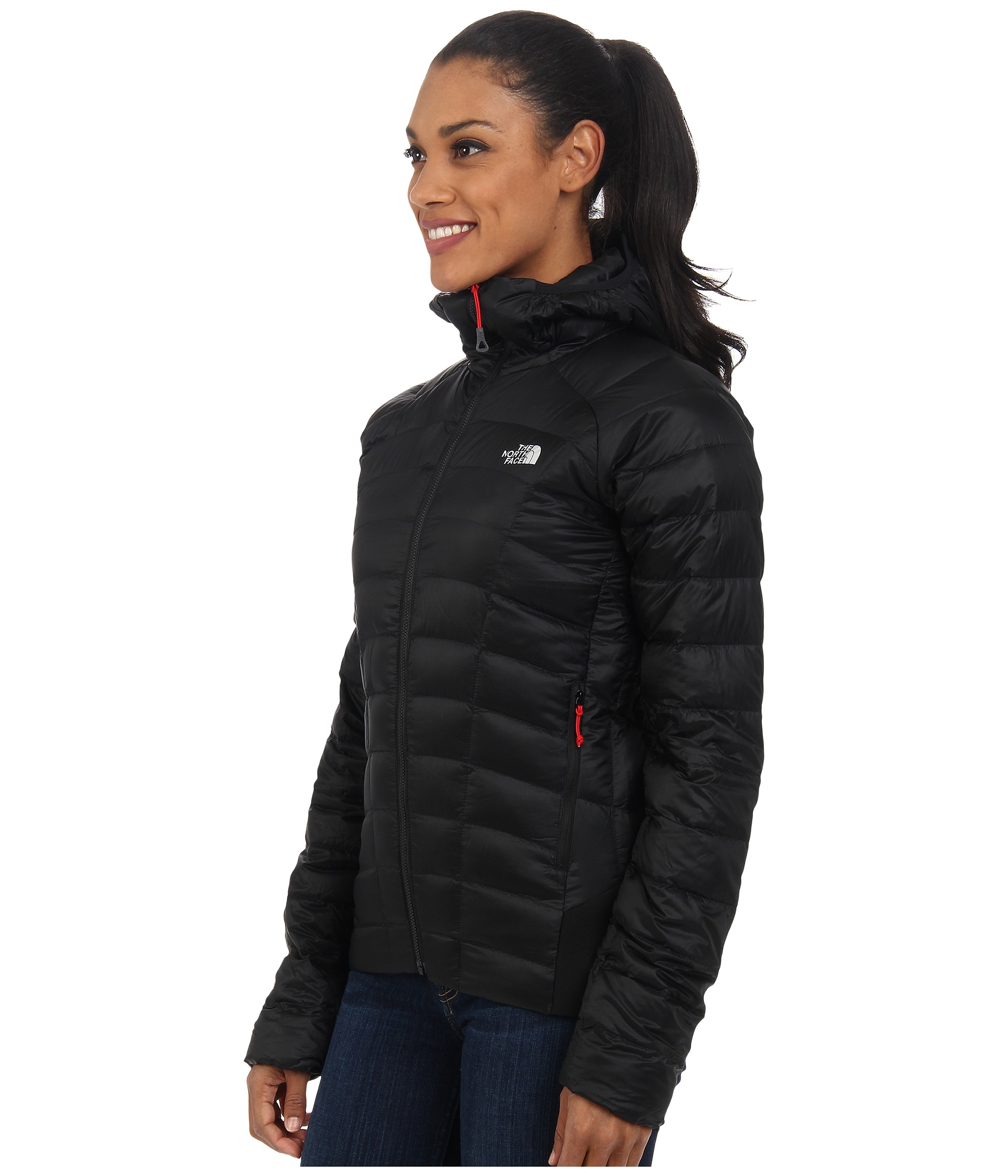 22c76fb073 ... low price lyst the north face quince hooded jacket in black 5e684 c4940