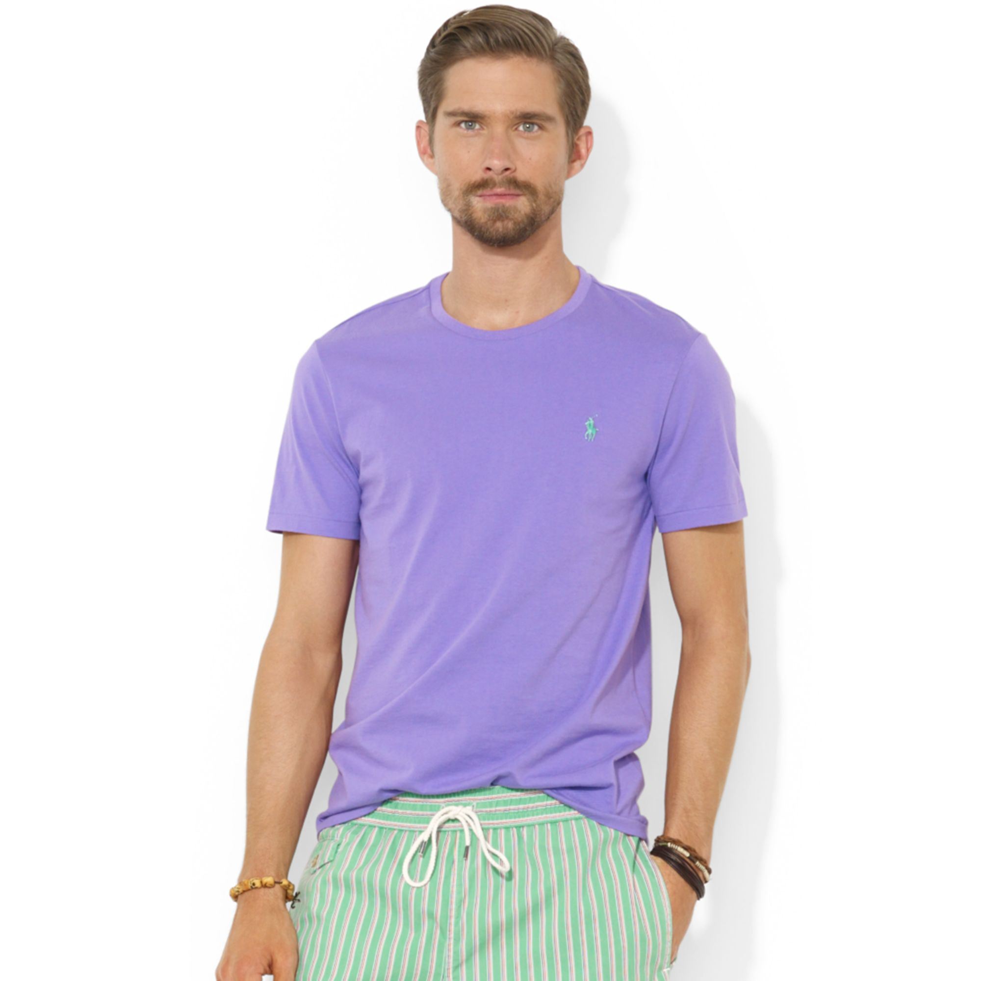 f134844a Ralph Lauren Polo Customfit Cotton Jersey T-shirt in Purple for Men ...