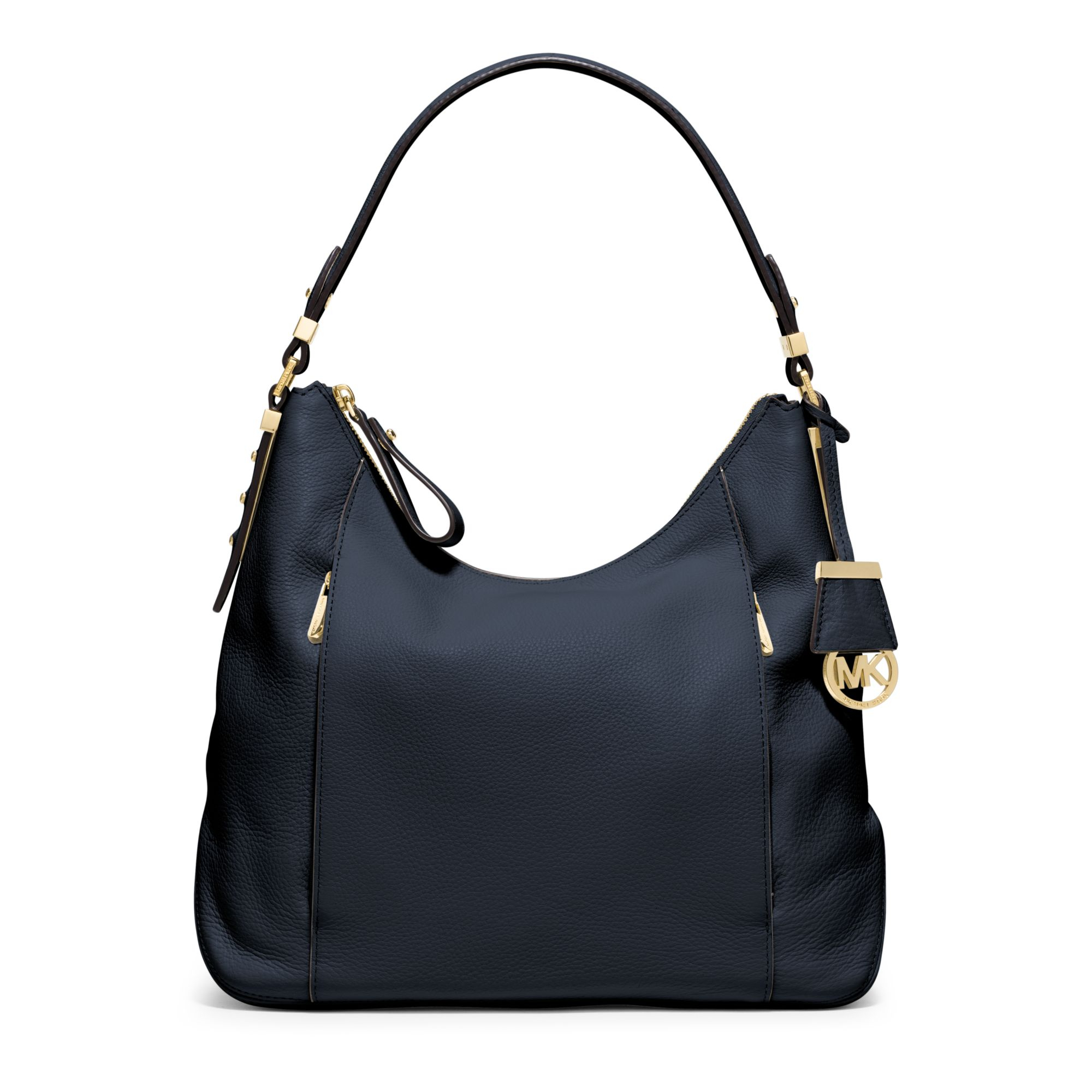 cef0bef24860 Lyst - Michael Kors Bowery Large Leather Shoulder Bag in Blue