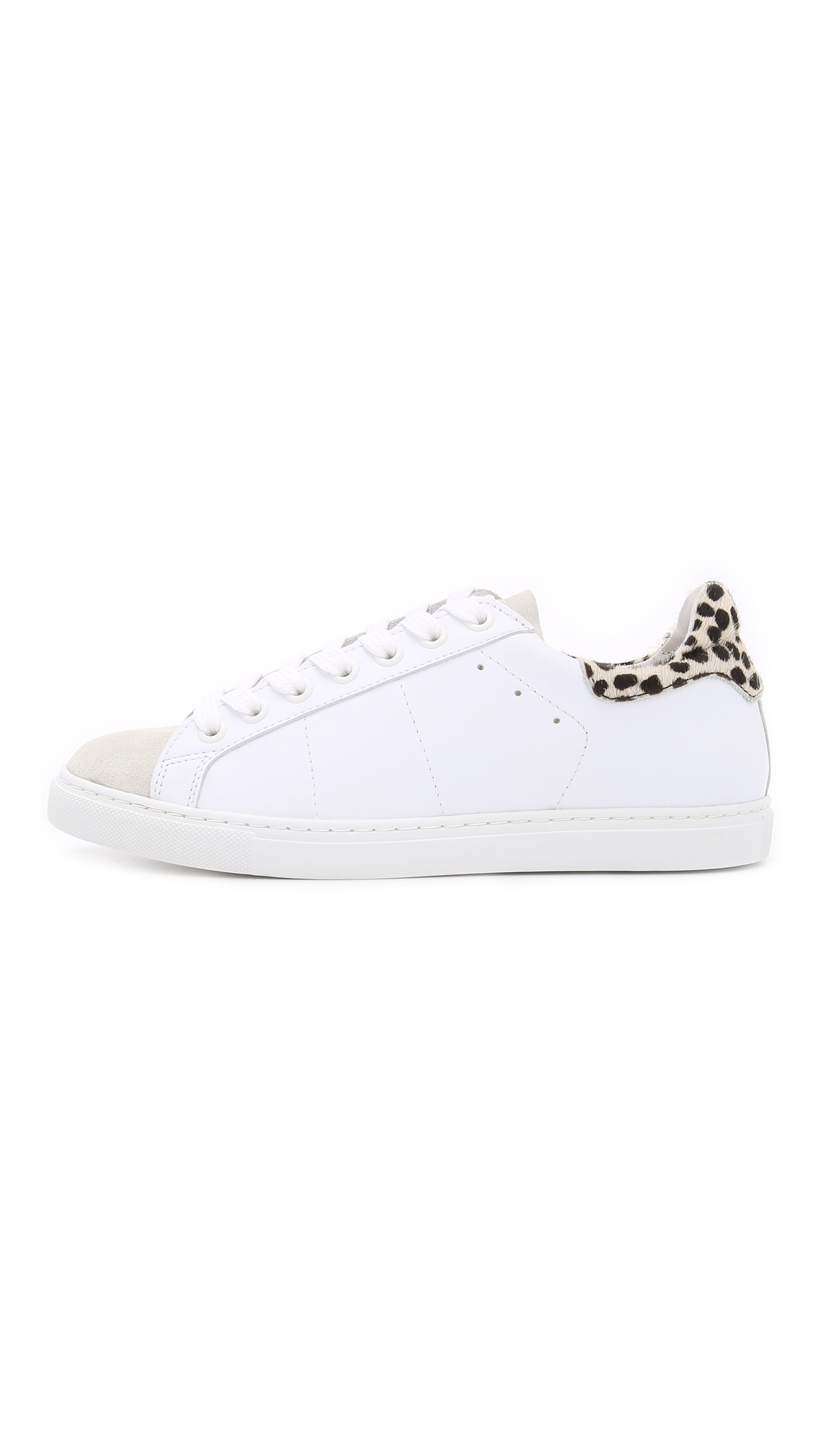 077422c558f434 Lyst - IRO Namuri Print Sneakers - White light Grey leopard in White