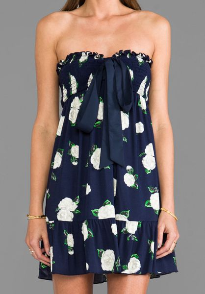 Juicy Couture Floral Bandeau Mini Beach Dress In Floral
