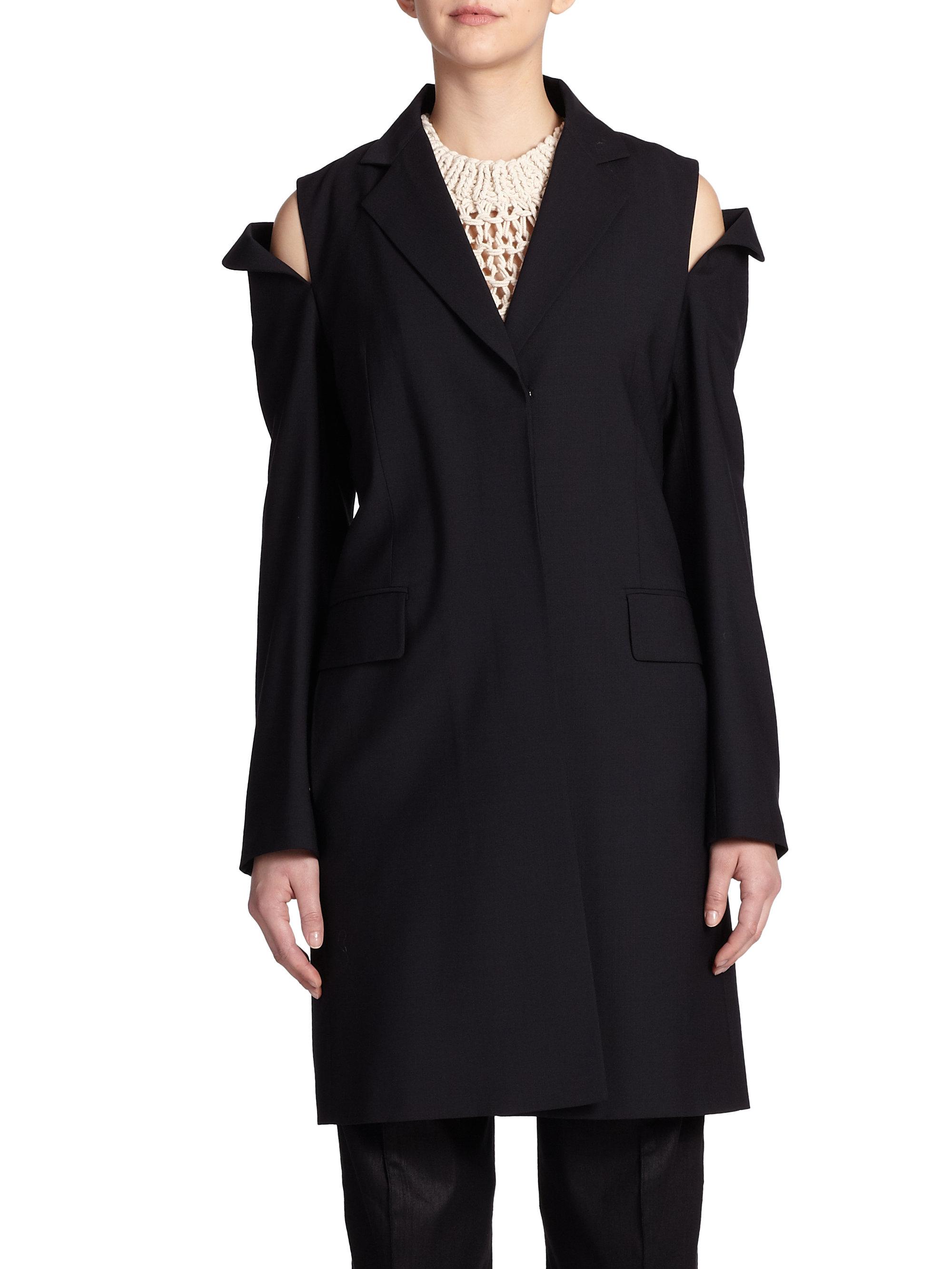 maison margiela cold shoulder convertible jacket in black for men lyst. Black Bedroom Furniture Sets. Home Design Ideas