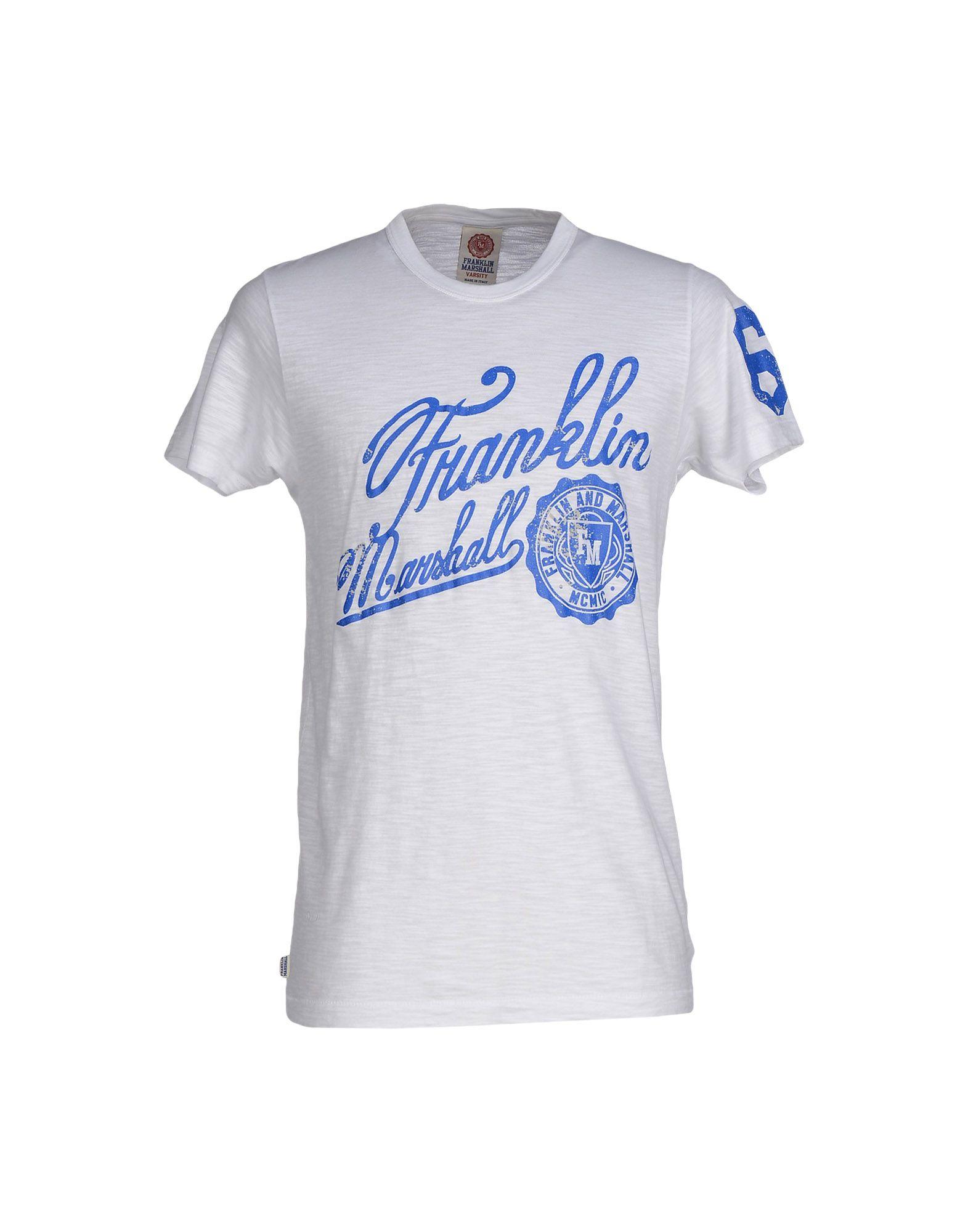 Franklin Marshall T Shirt In White For Men Lyst