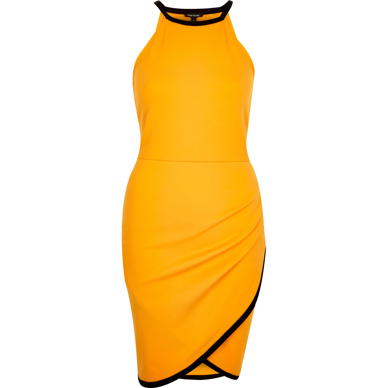 River Island Colour Block Asymmetric Wrap Bodycon Dress Sizes 6 to 16