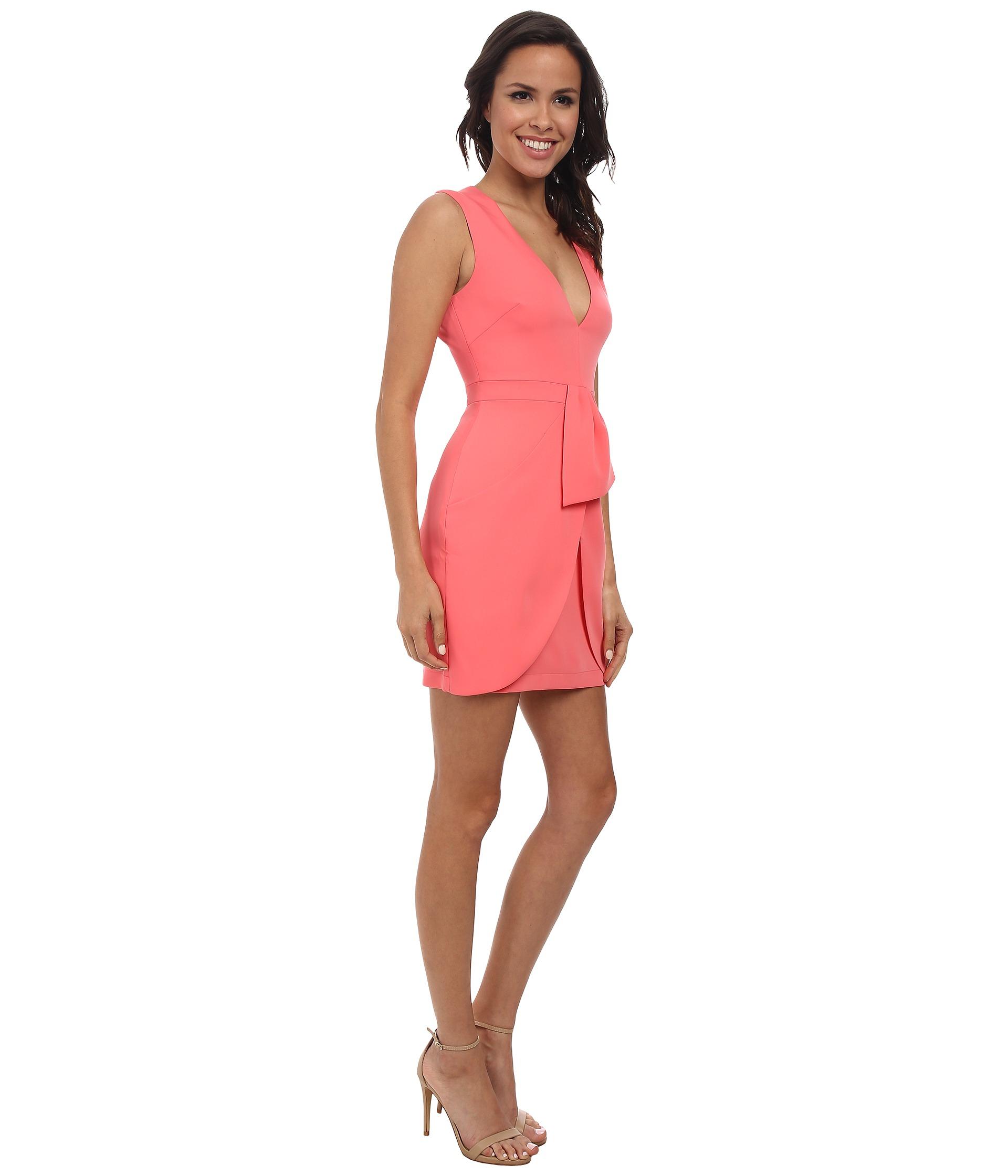 BCBGMAXAZRIA Womens Clare Sleeveless Wrap Drape-Skirt Dress
