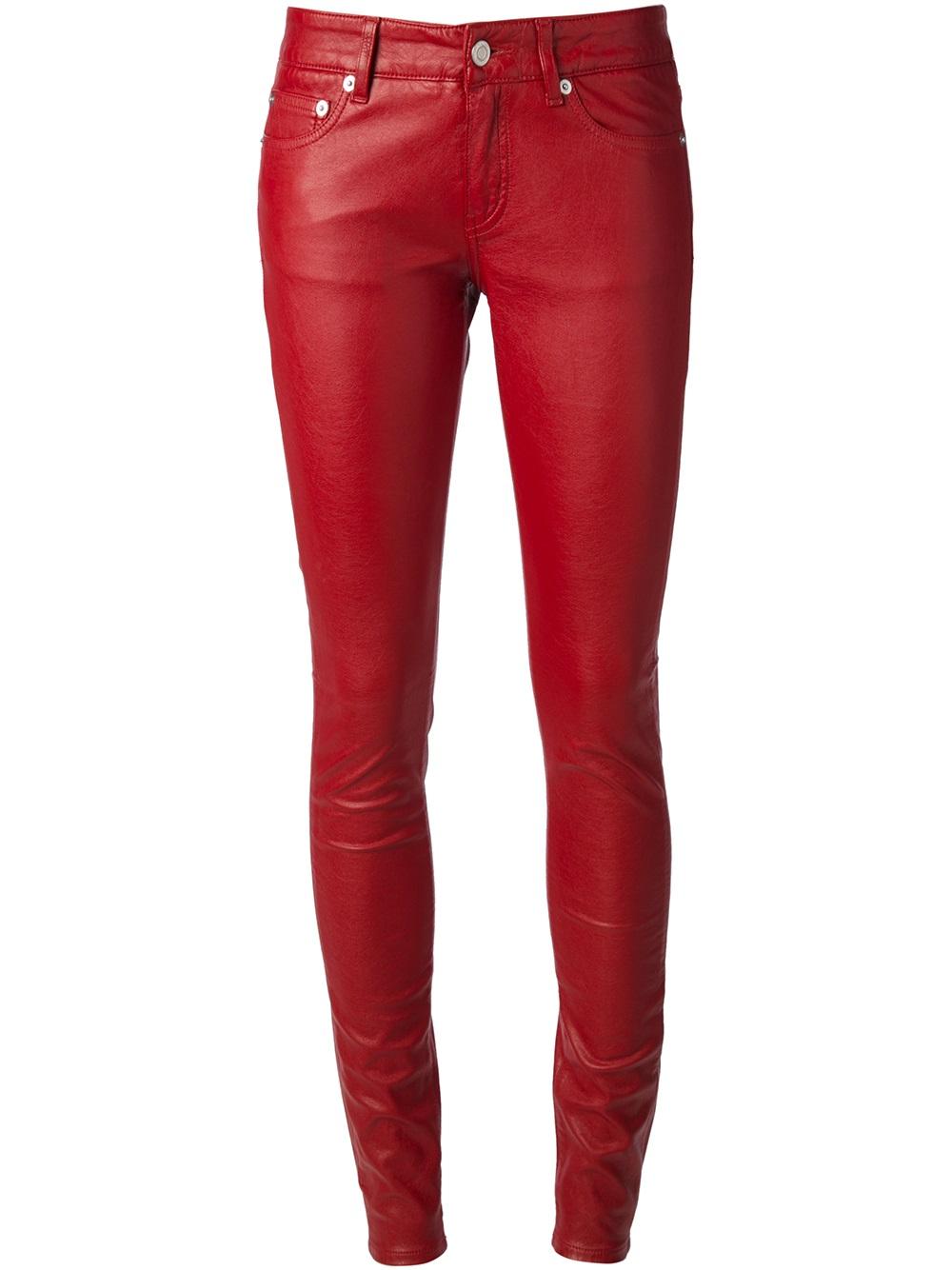 New Women Red Pants  Pi Pants