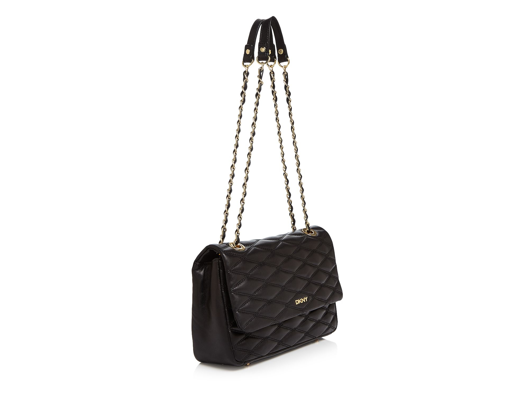 Quilted Shoulder Bag In Dkny Lyst Black Flap bf76gy