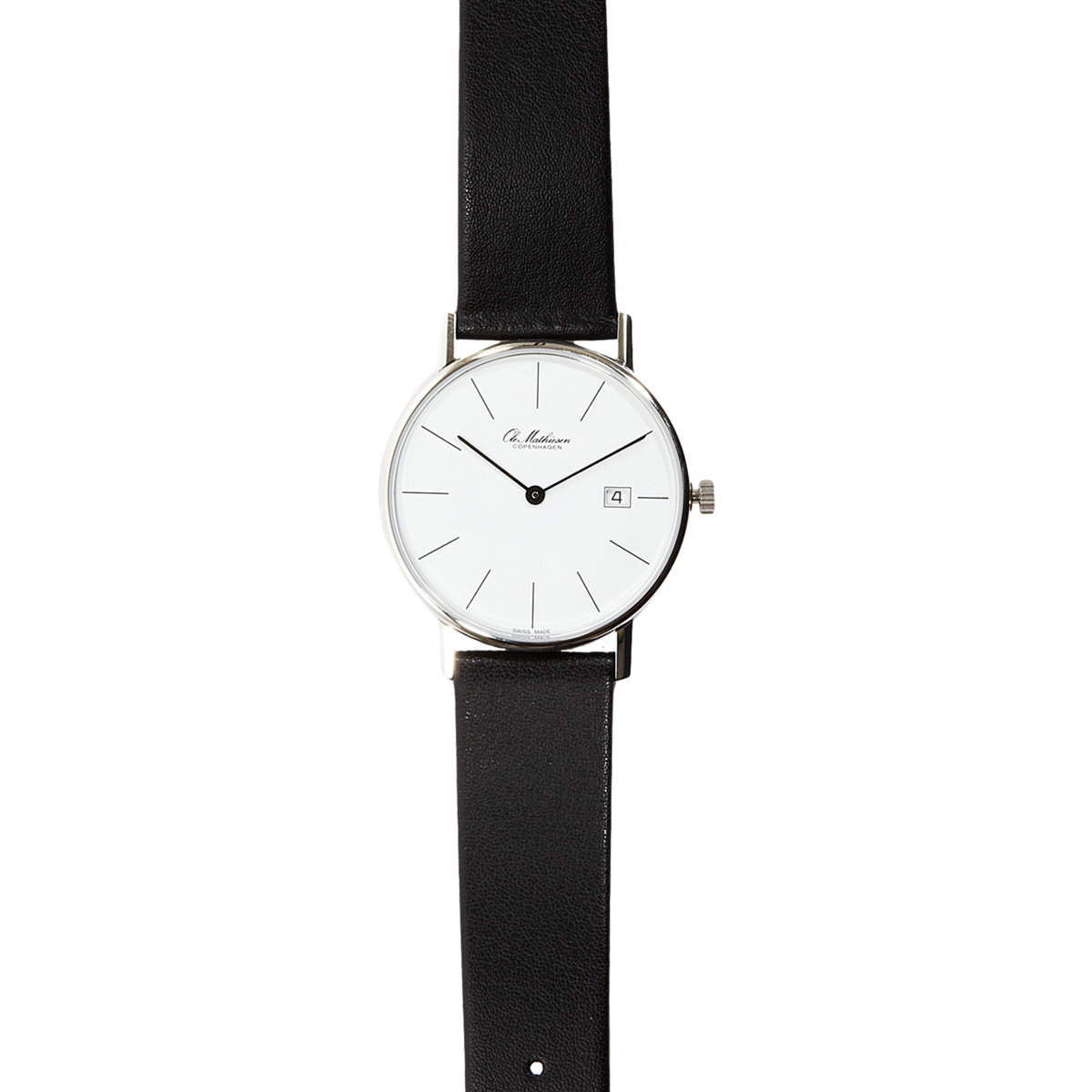 Ole mathiesen Men's Round-face Watch in Black for Men | Lyst