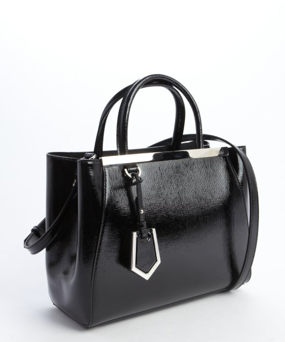 eb50f5081354 ... shop lyst fendi black mini 2jours convertible top handle bag in black  09636 ff459