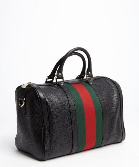 ec48f3658358 Gucci Leather Vintage Web Boston Bag   Stanford Center for ...