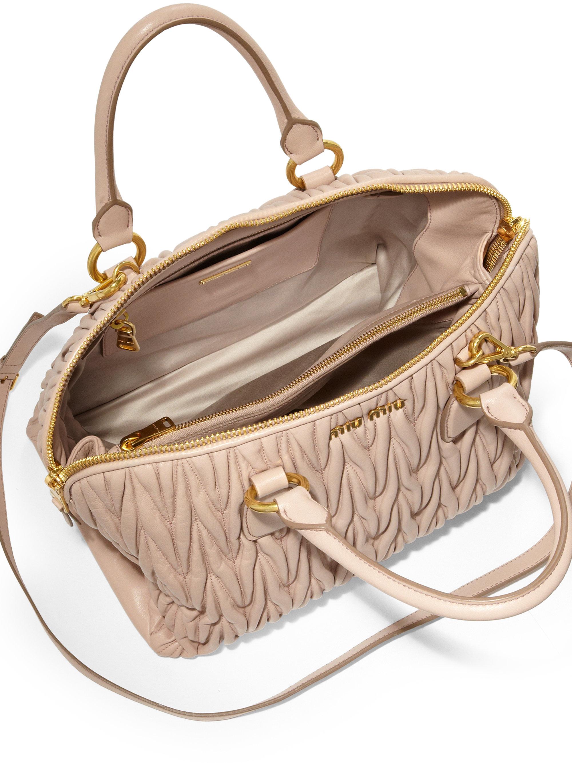 miu miu leather matelasse satchel miu miu shoes online. Black Bedroom Furniture Sets. Home Design Ideas