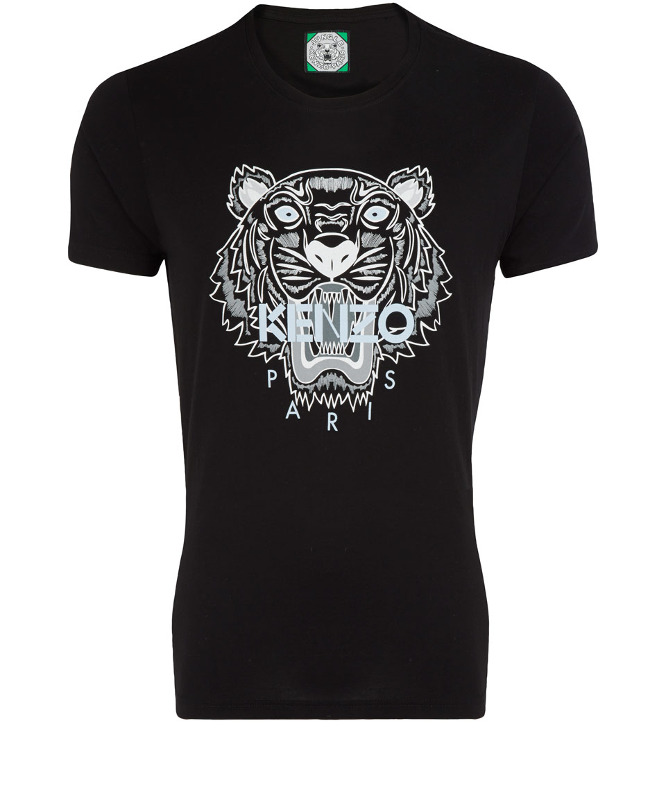 Lyst - KENZO Black Tiger Cotton Tshirt in Black 2cf3b19b598