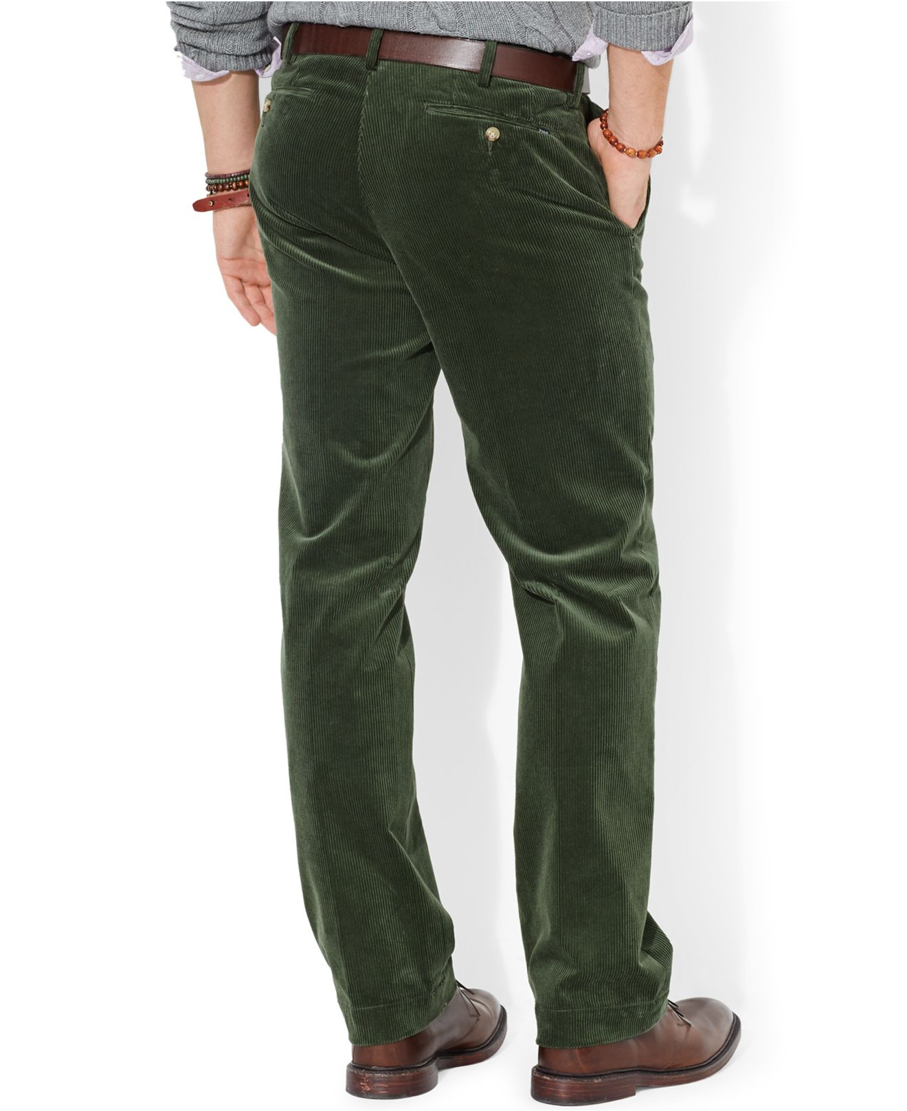 Polo ralph lauren Classic-Fit Newport Corduroy Pants in Green for ...