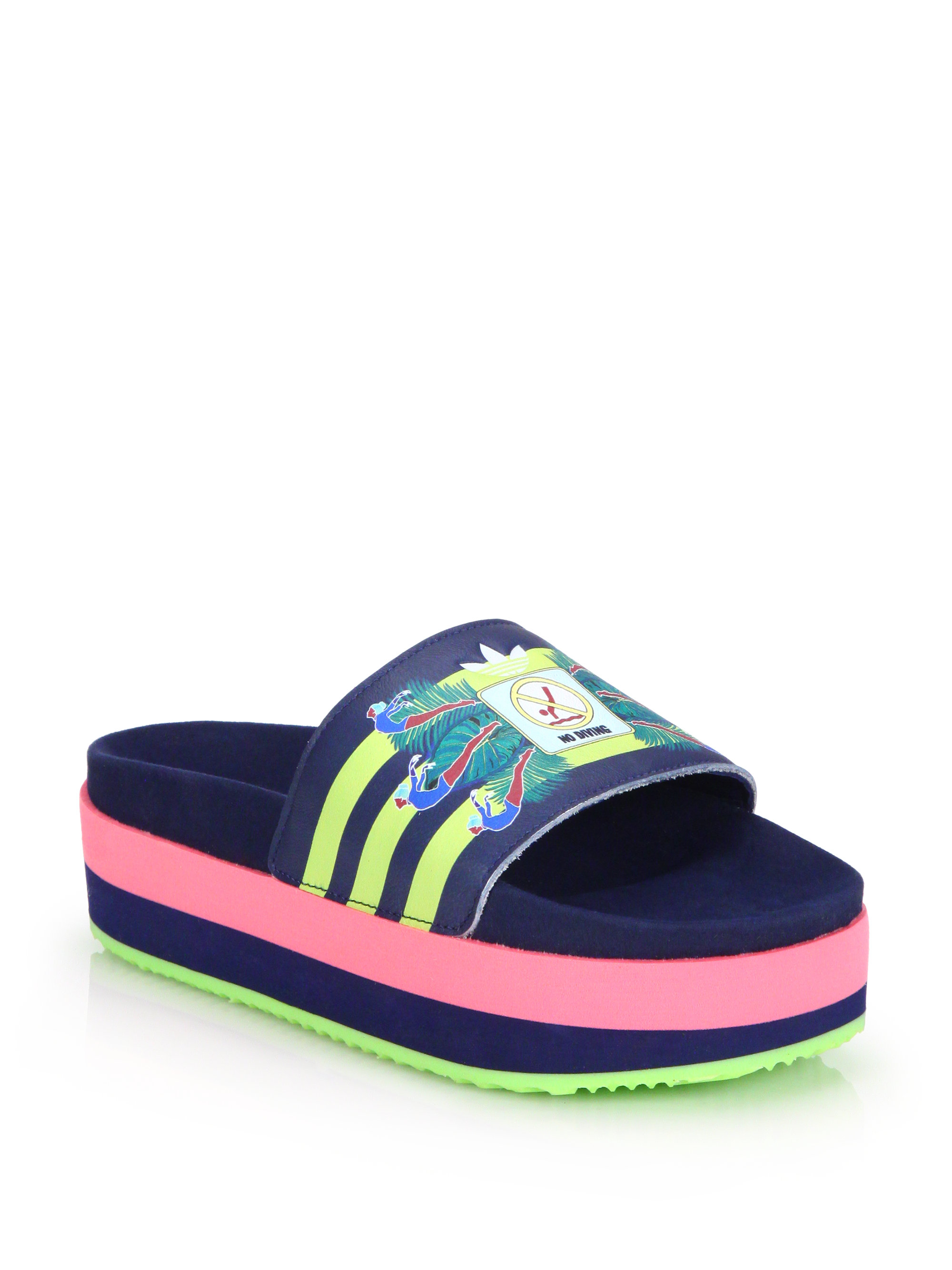 Lyst Adidas Originals No Diving Platform Slide Sandals