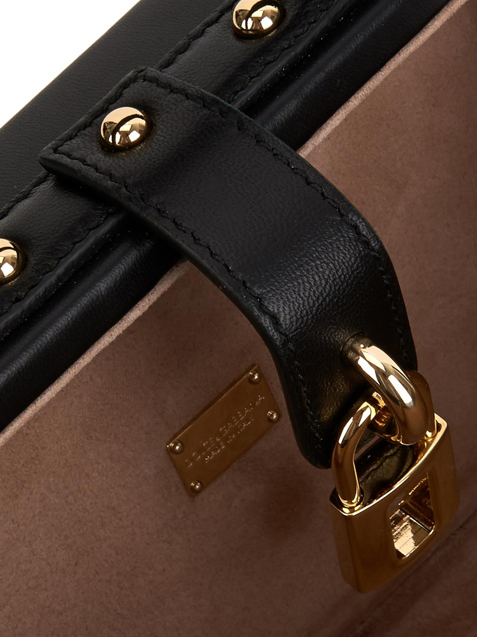 c77e9ff2faf7 Lyst - Dolce   Gabbana Polka-dot Appliqué Leather Cross-Body Bag in ...