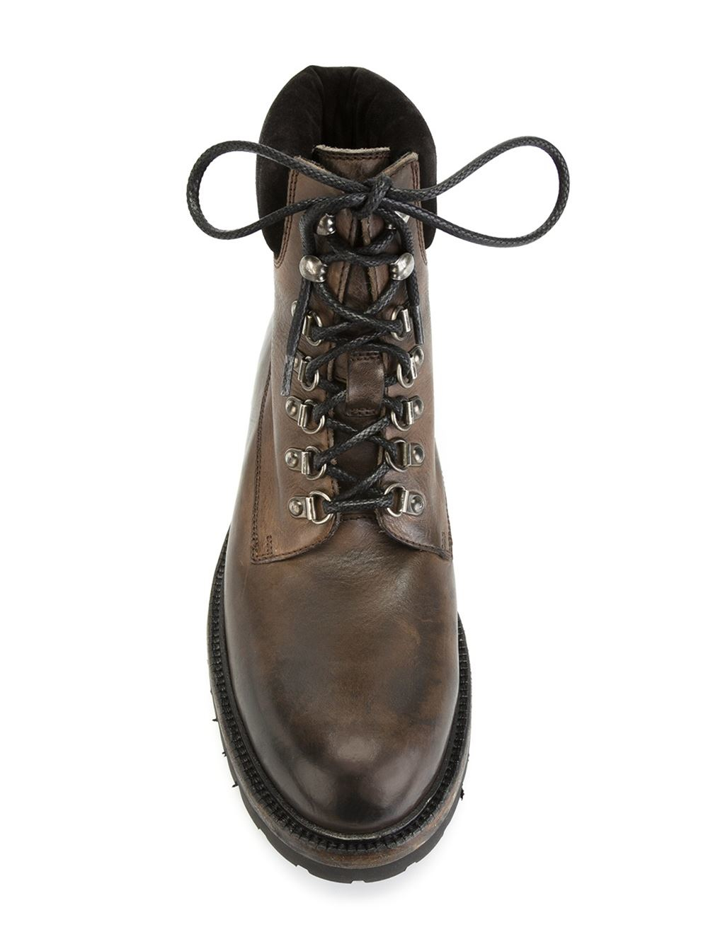 Dolce Amp Gabbana Leather Hiking Boots In Brown For Men Lyst