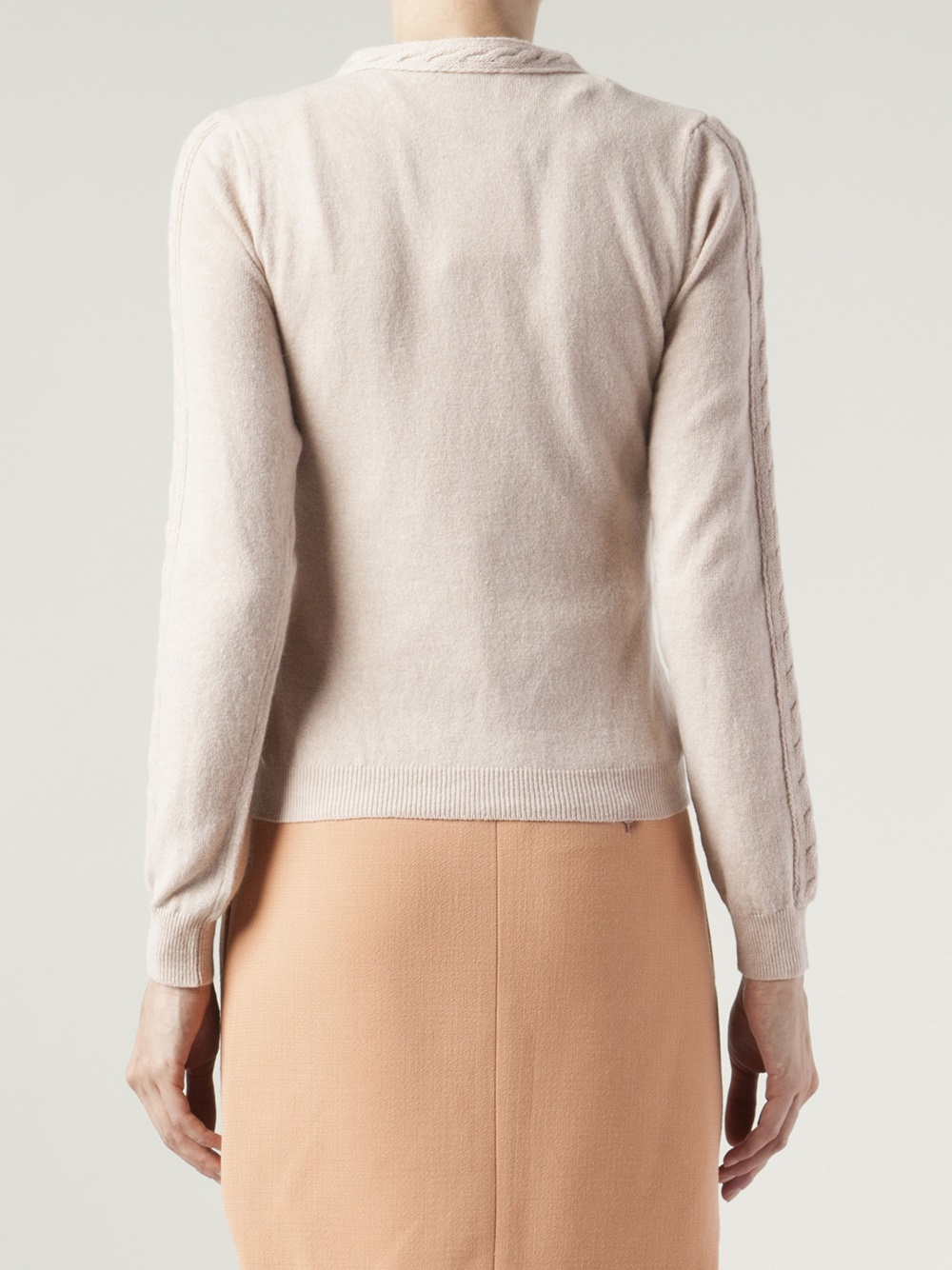 Lyst Red Valentino Banded Collar Cardigan In Pink
