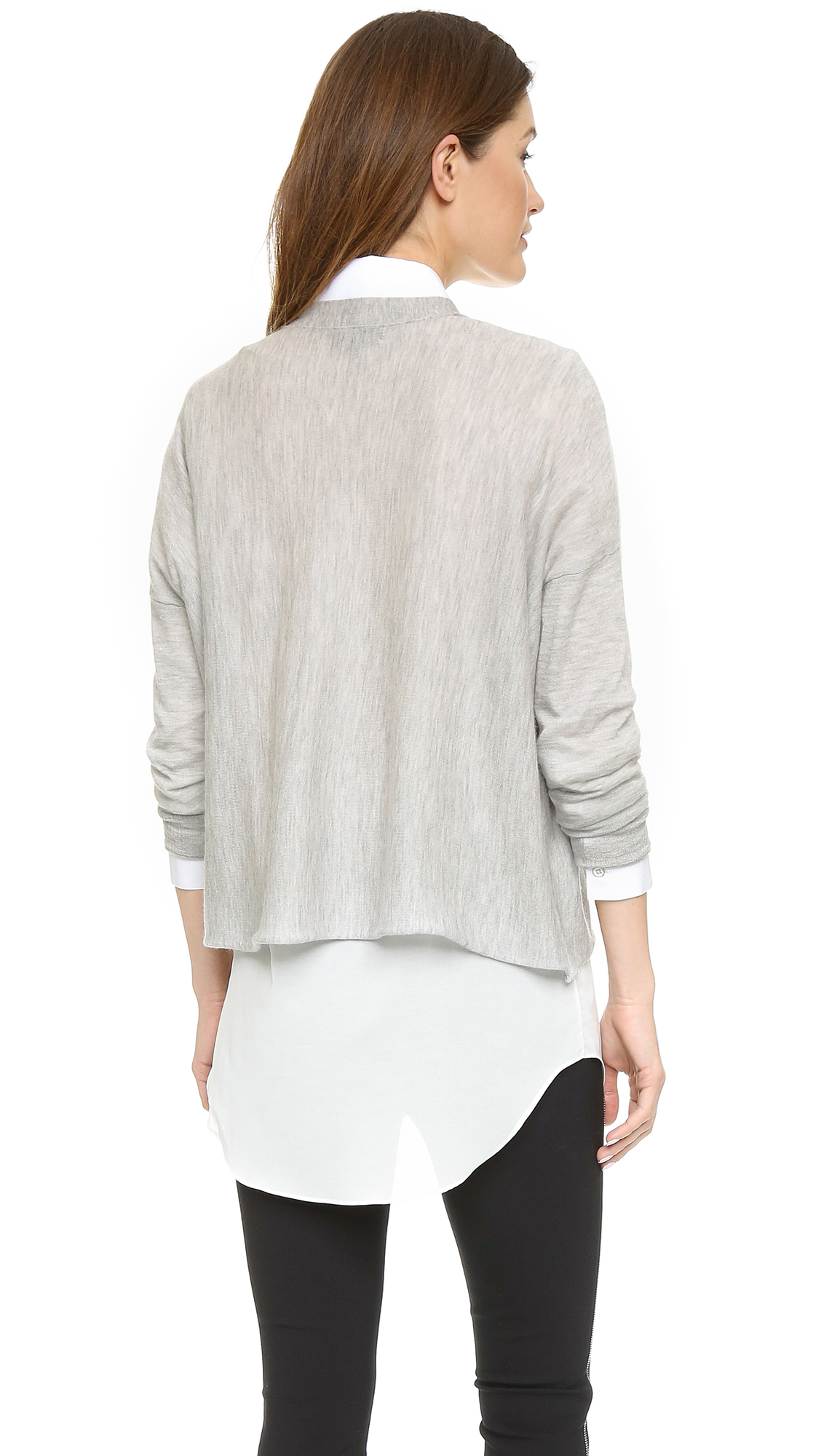 Rag & bone Serena Cashmere Cardigan - Light Grey Melange in Gray ...