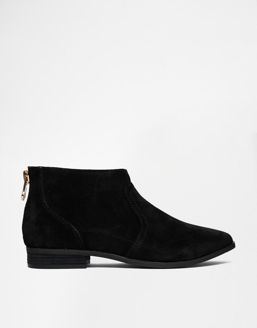 ALDO Rairdon Black Suede Flat Ankle