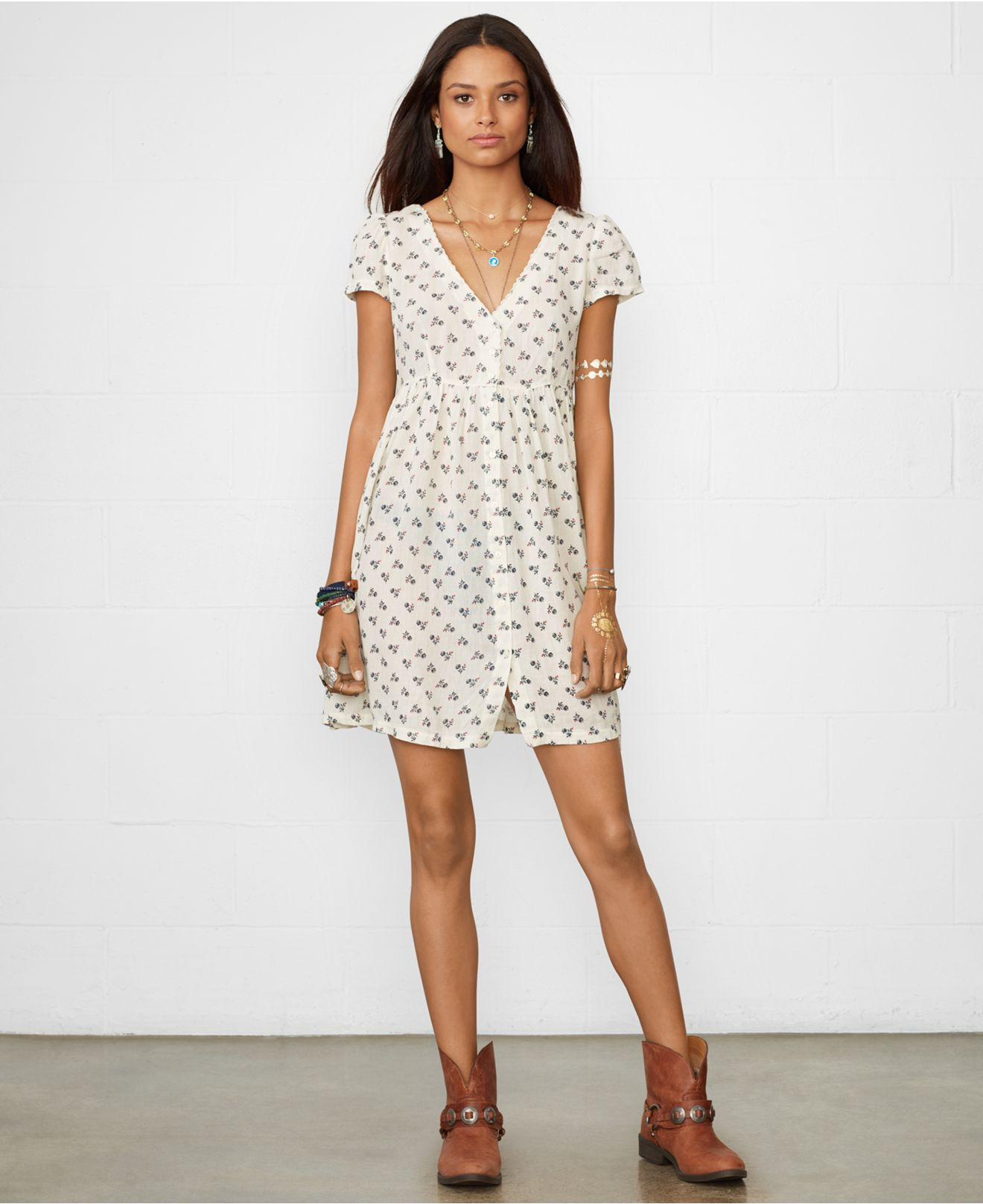 659094c8f6 Gallery. Previously sold at  Macy s · Women s Babydoll Dress Women s Denim  Dresses ...