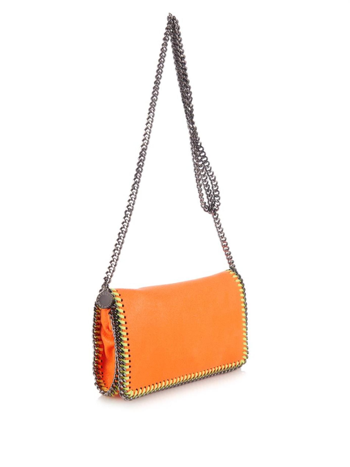 Stella McCartney Falabella Shaggy Deer Cross-Body Bag in Orange