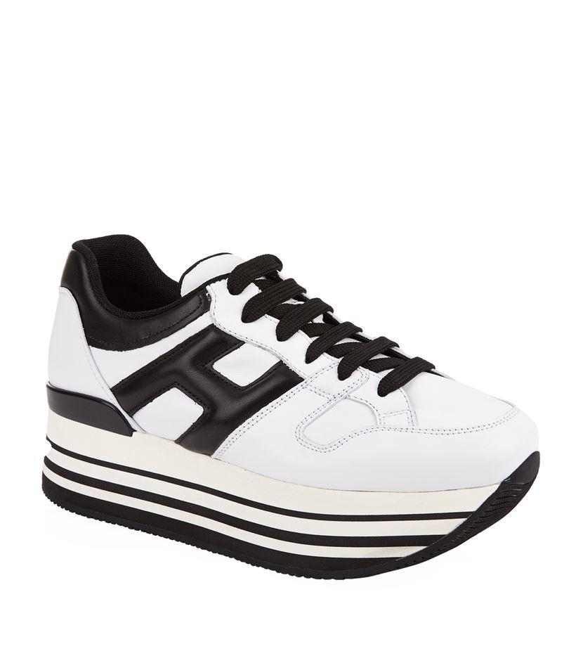 Hogan 283 Maxiplatform Sneaker in White - Lyst