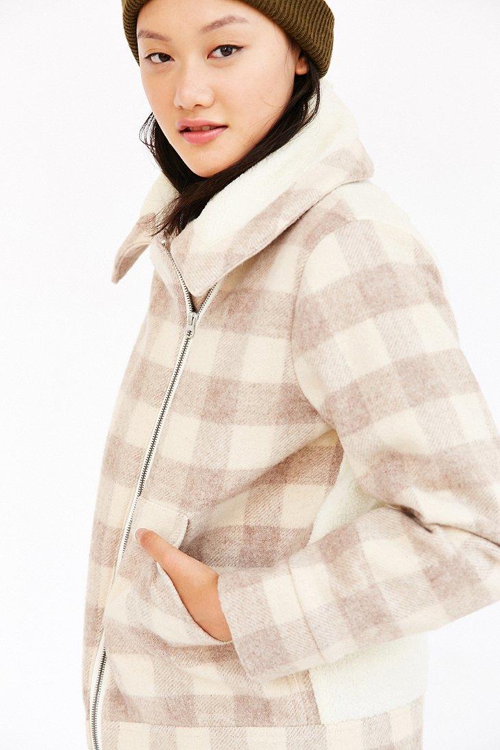 f0bd1aa96 Woolrich Multicolor Mill Wool Sherpa Jacket