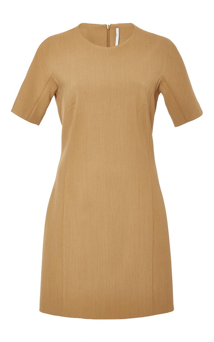 961a6068a8 Rosetta Getty Oak Bonded Scuba T-shirt Dress in Brown - Lyst