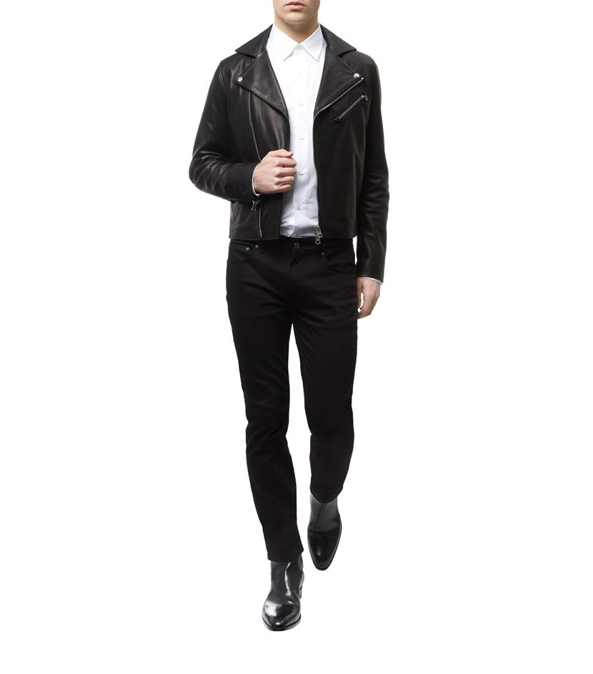 Acne Studios Leather Motorcycle Jacket in Black for Men