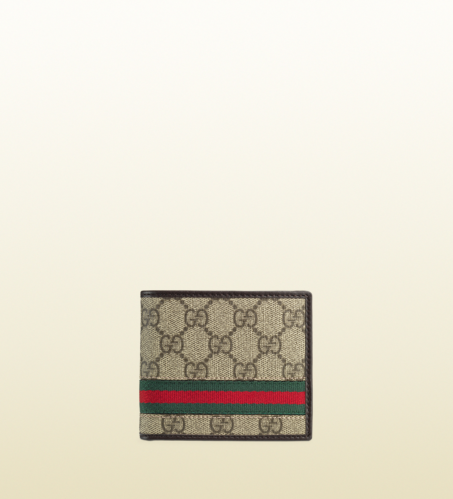 2d83398bab3586 Gucci Gg Supreme Canvas Bi-fold Wallet in Brown for Men - Lyst