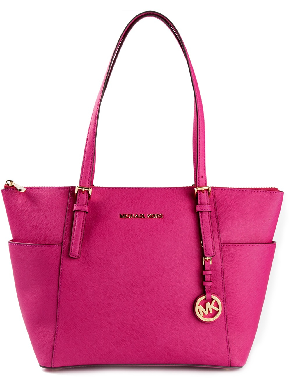 michael michael kors 39 jet set 39 shopper tote in pink lyst. Black Bedroom Furniture Sets. Home Design Ideas
