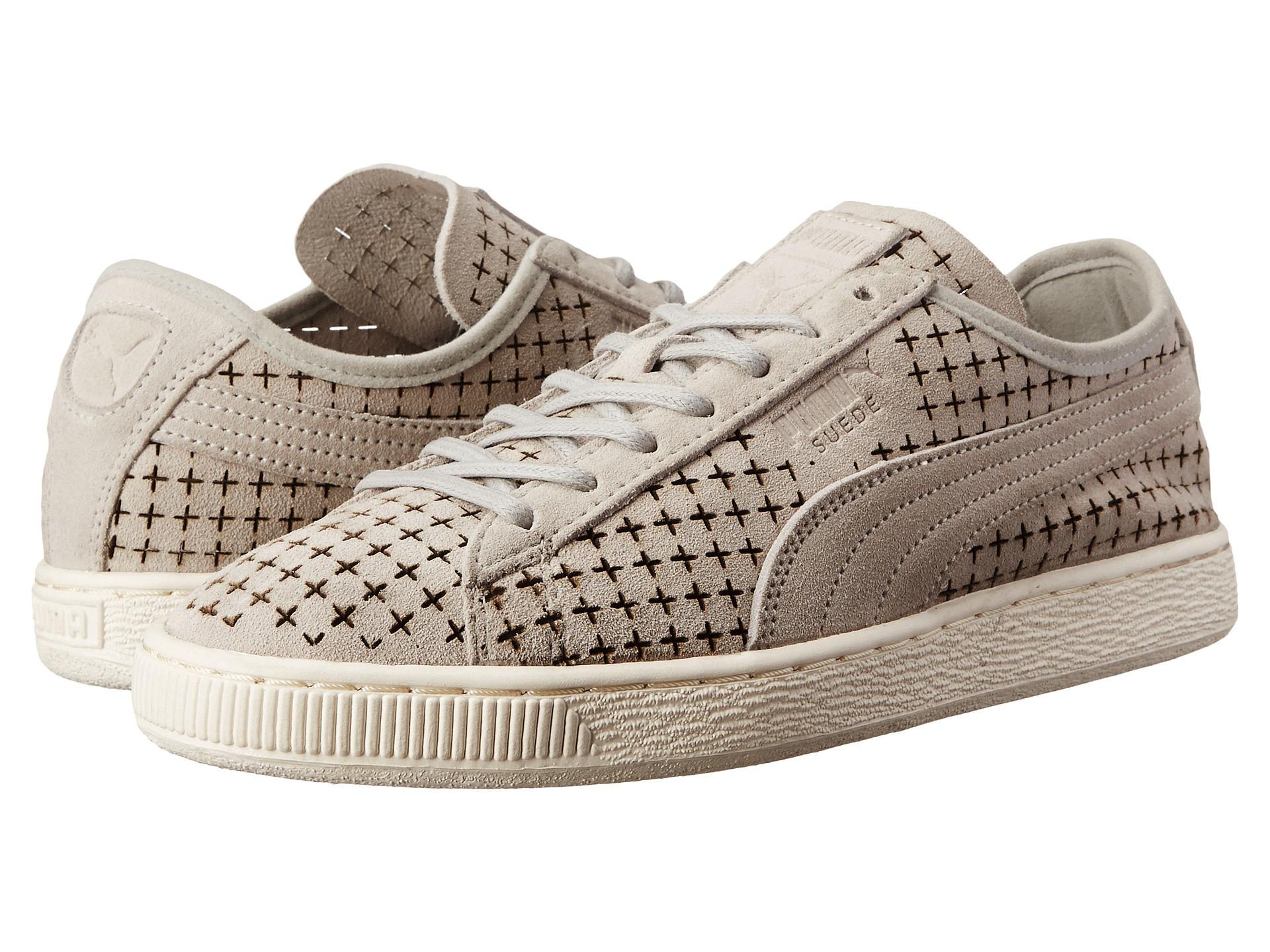 Mens Shoes PUMA Sport Fashion Suede Courtside Perf Gray Violet
