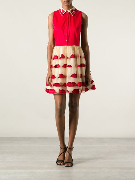 Alice Olivia Red Lips Dress In Red Lyst
