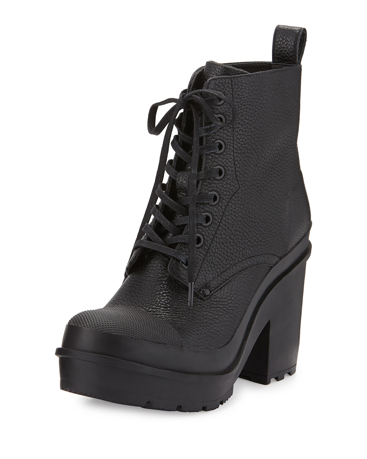 Women's Lace Up Black Leather Boots | Santa Barbara Institute for ...