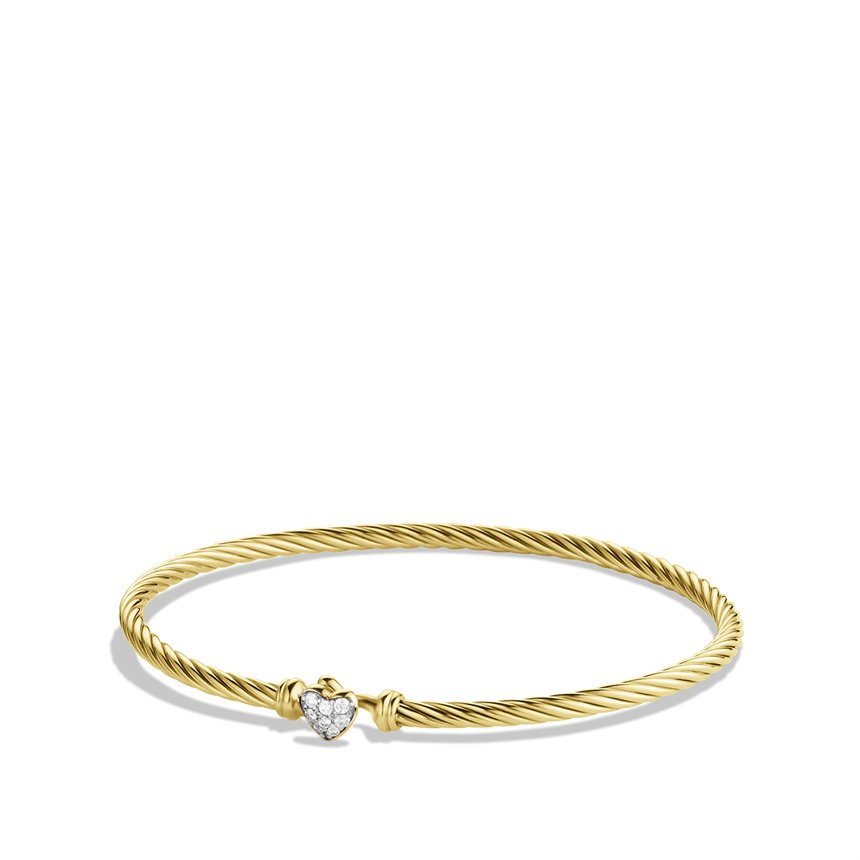 Lyst david yurman cable collectibles heart bracelet with for David yurman inspired bracelet cable