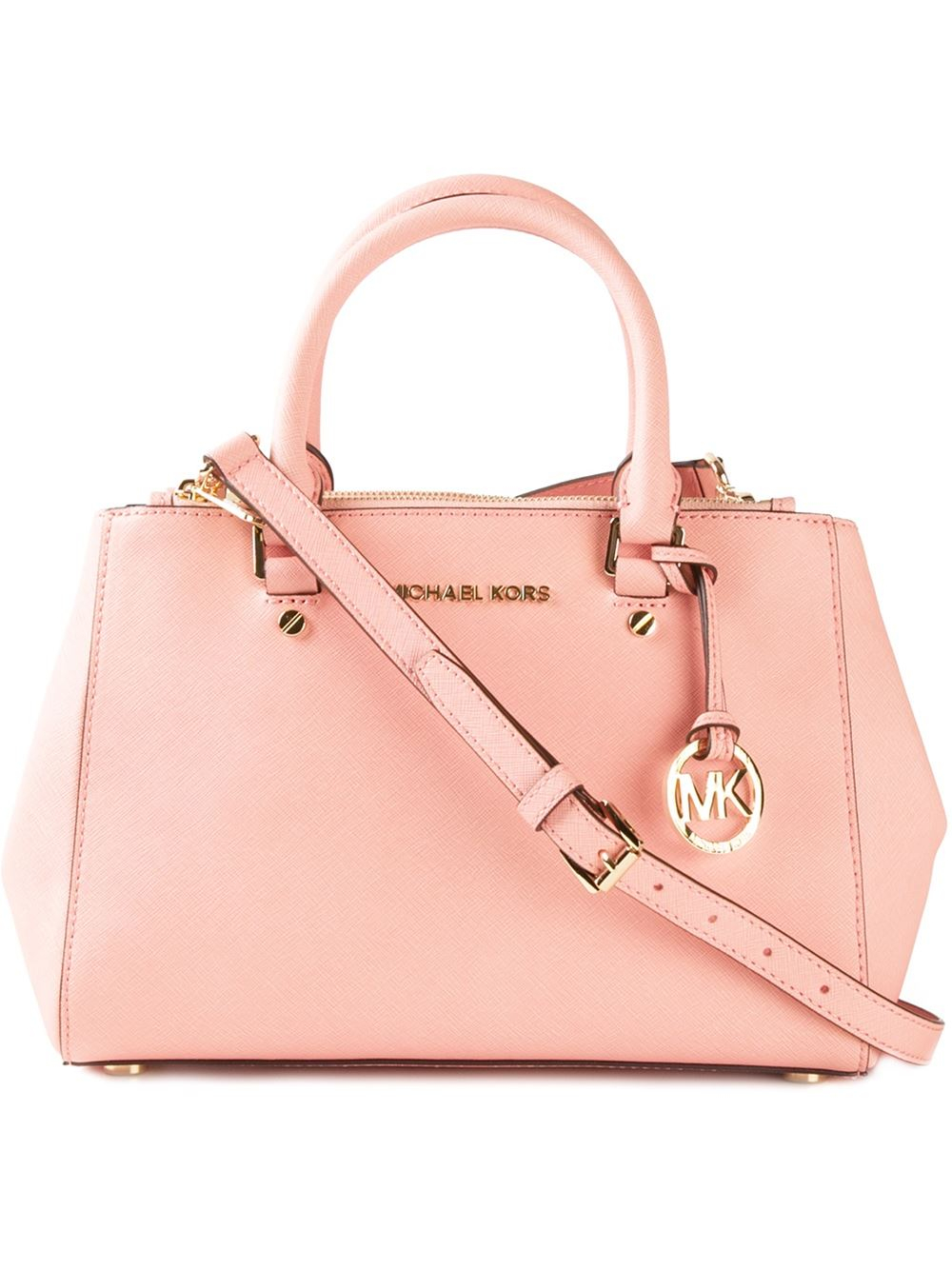 michael michael kors 39 sutton 39 tote in pink lyst. Black Bedroom Furniture Sets. Home Design Ideas