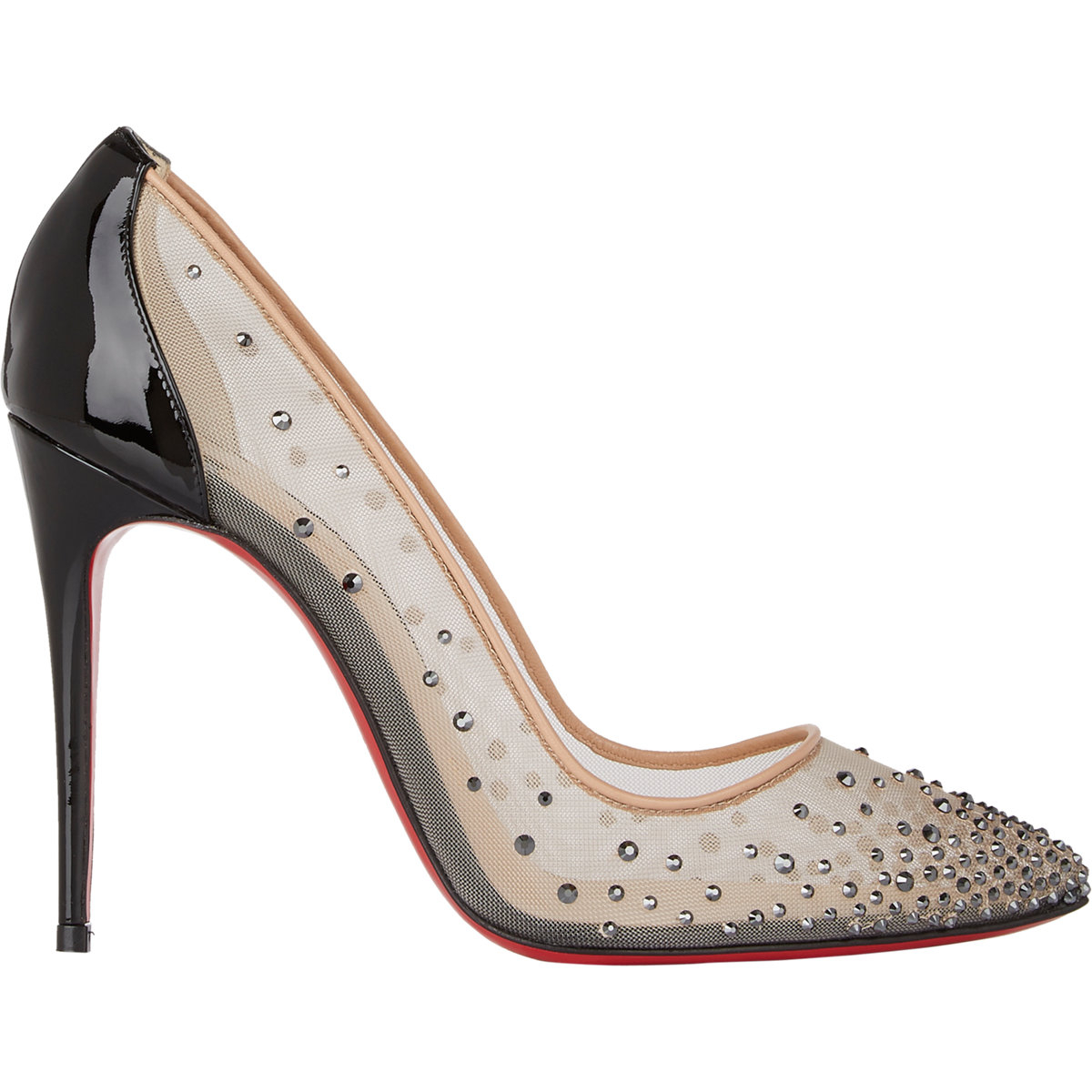 online retailer ade71 f0194 Christian Louboutin Crystal-Embellished Follies Strass Pumps ...