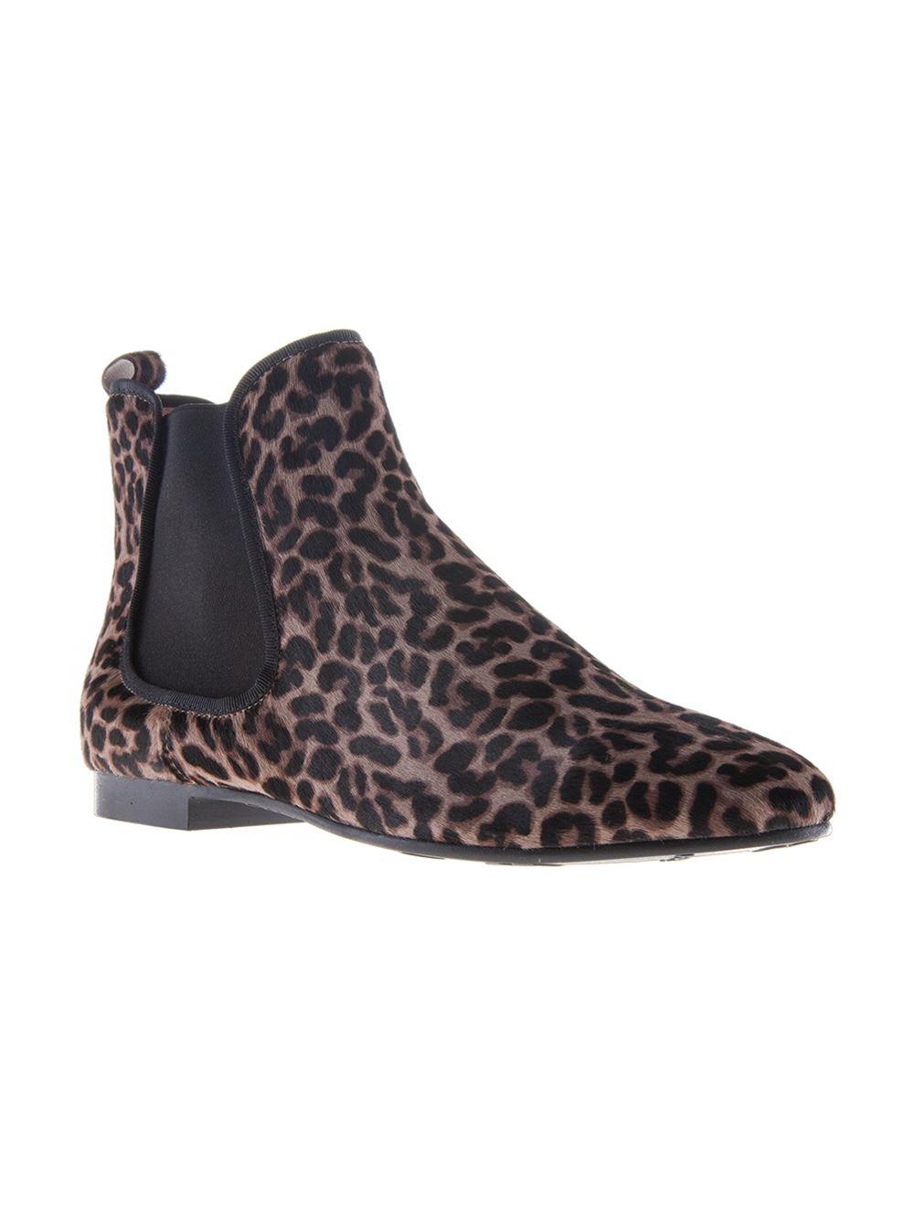 987c97fd83e0 Lyst pretty ballerinas leopard print chelsea boots in black jpg 1000x1334 Black  leopard print boots