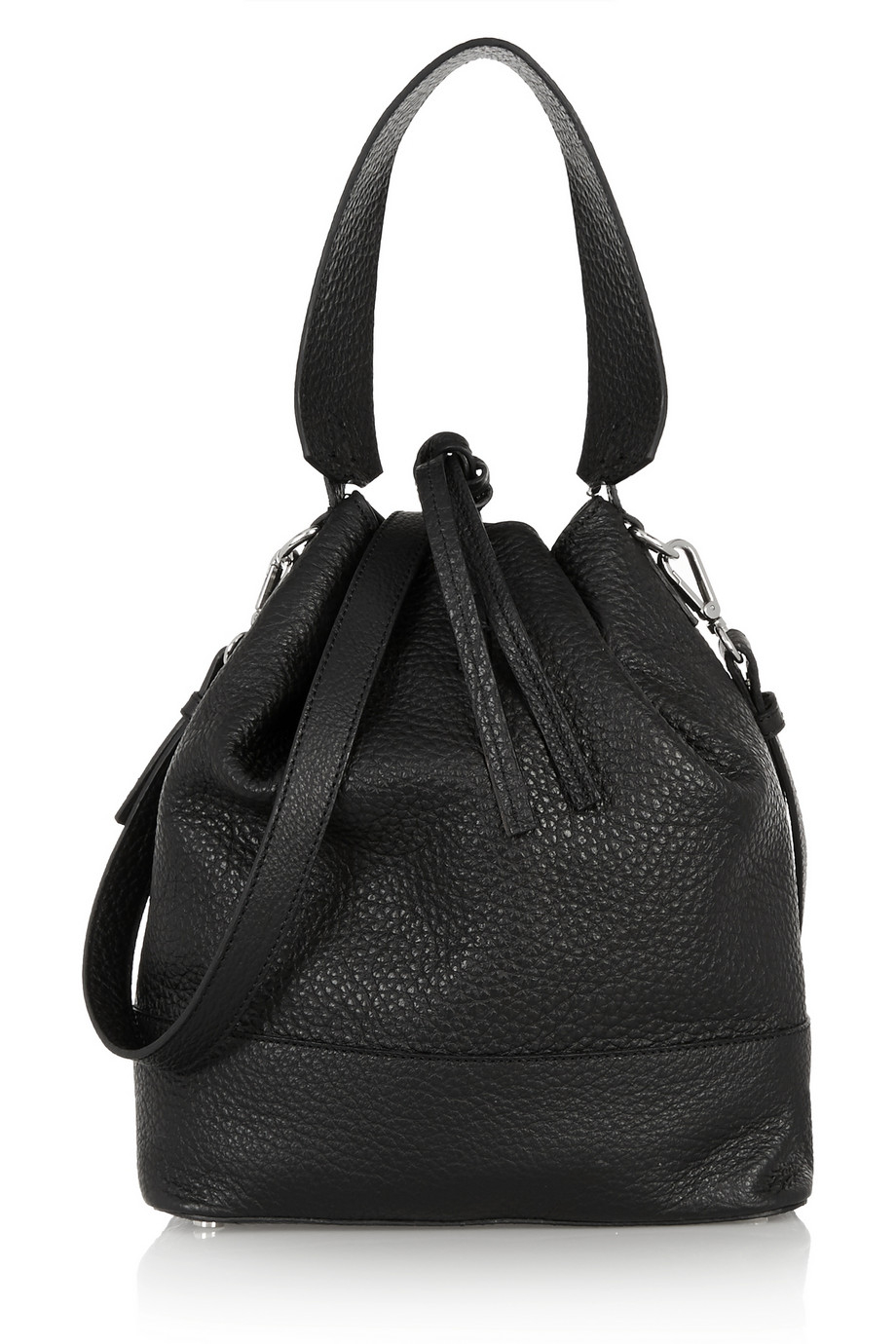Lyst Iris Amp Ink Brixton Textured Leather Shoulder Bag In