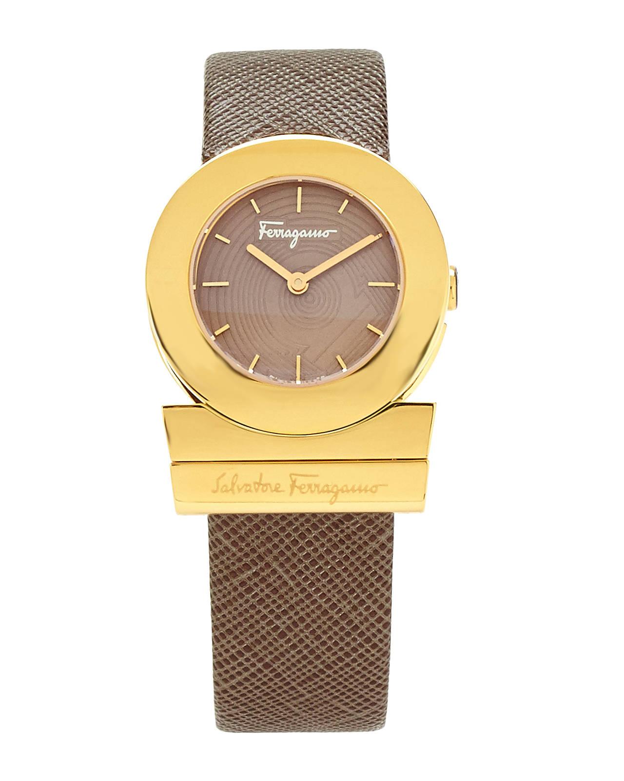 ferragamo fp5020013 gold tone brown in