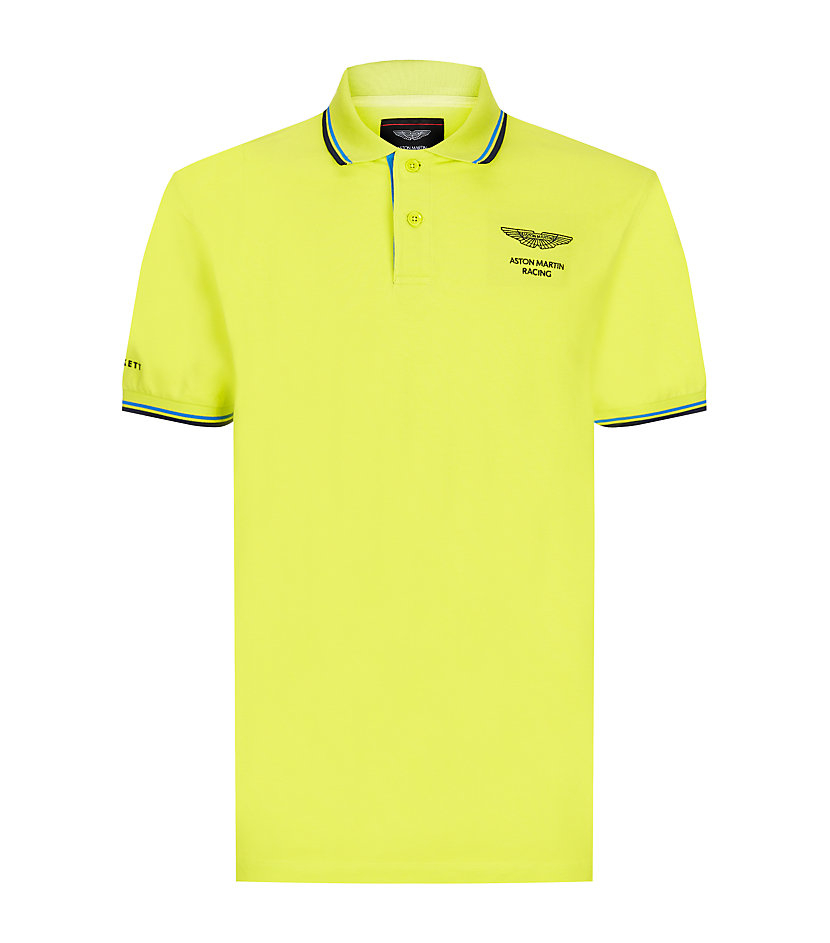 hackett aston martin printed polo shirt in yellow for men lyst. Black Bedroom Furniture Sets. Home Design Ideas