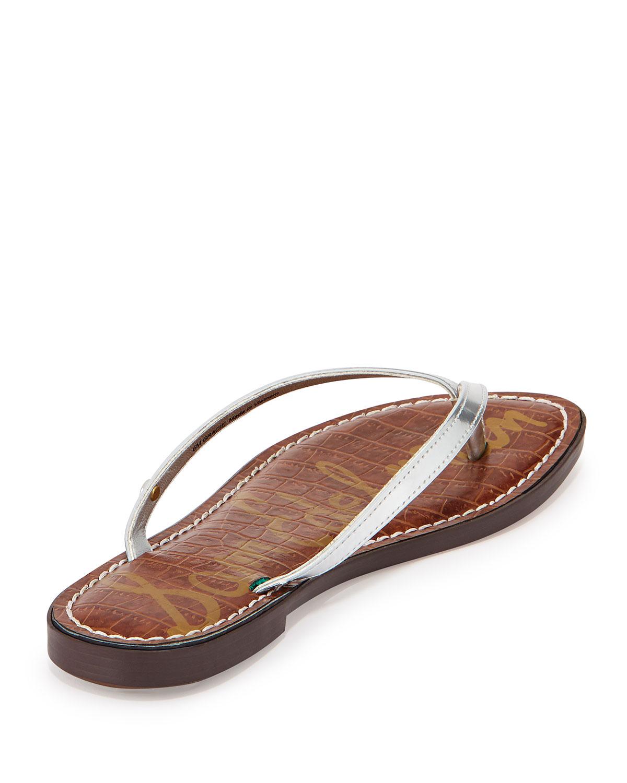 51c409bdd770bd Lyst - Sam Edelman Gracie Metallic Thong Sandal in Metallic