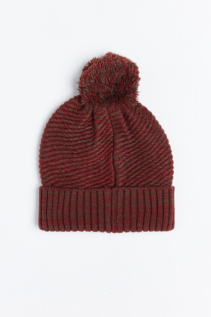 Lyst Urban Outfitters Twisted Marled Knit Pom Beanie In