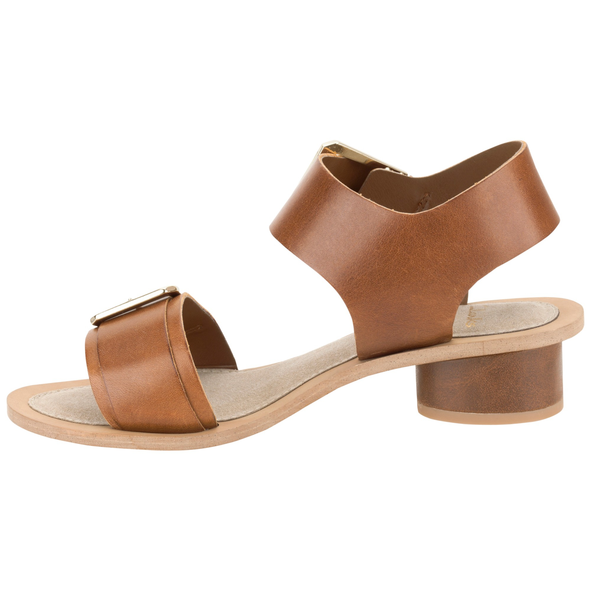 7352d3606 Clarks Sandcastle Art Leather Sandals in Brown - Lyst