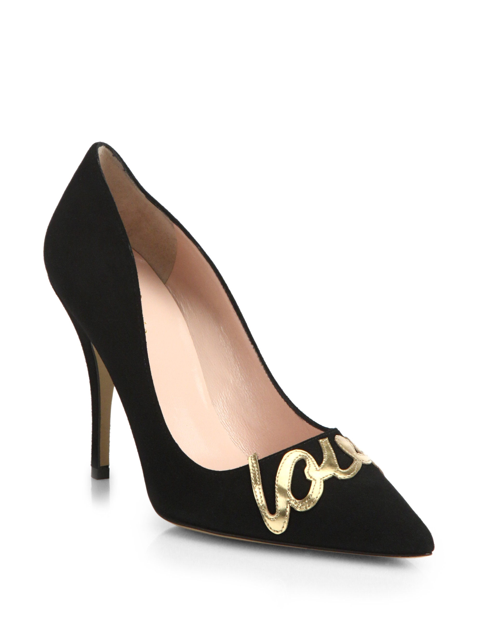 Lyst Kate Spade New York Love Suede Pointy Toe Pumps In