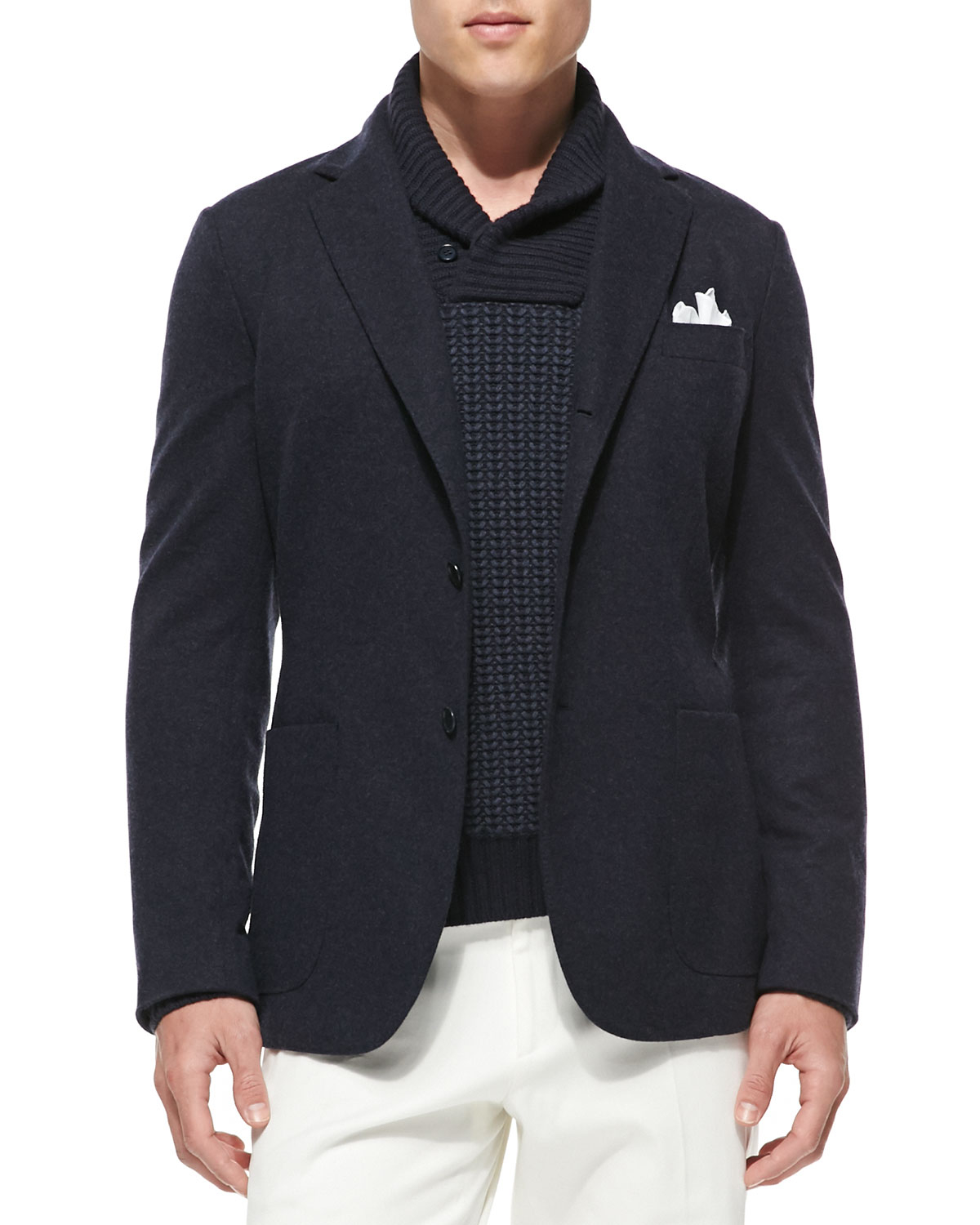 Loro piana Baby Cashmere Sweater Jacket in Blue for Men | Lyst