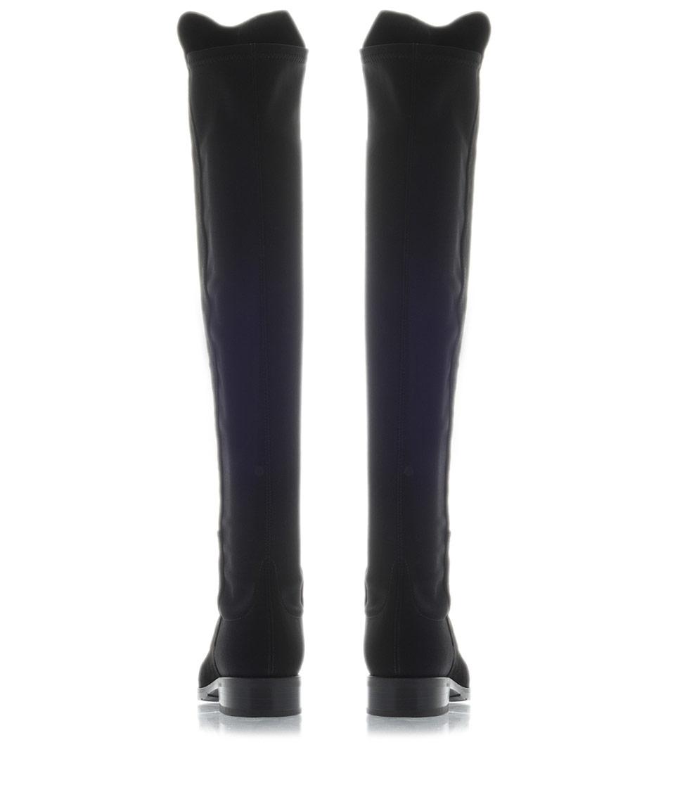 Stuart Weitzman Fifty Fifty Boot-t Pu & Neoprene Boot in Black